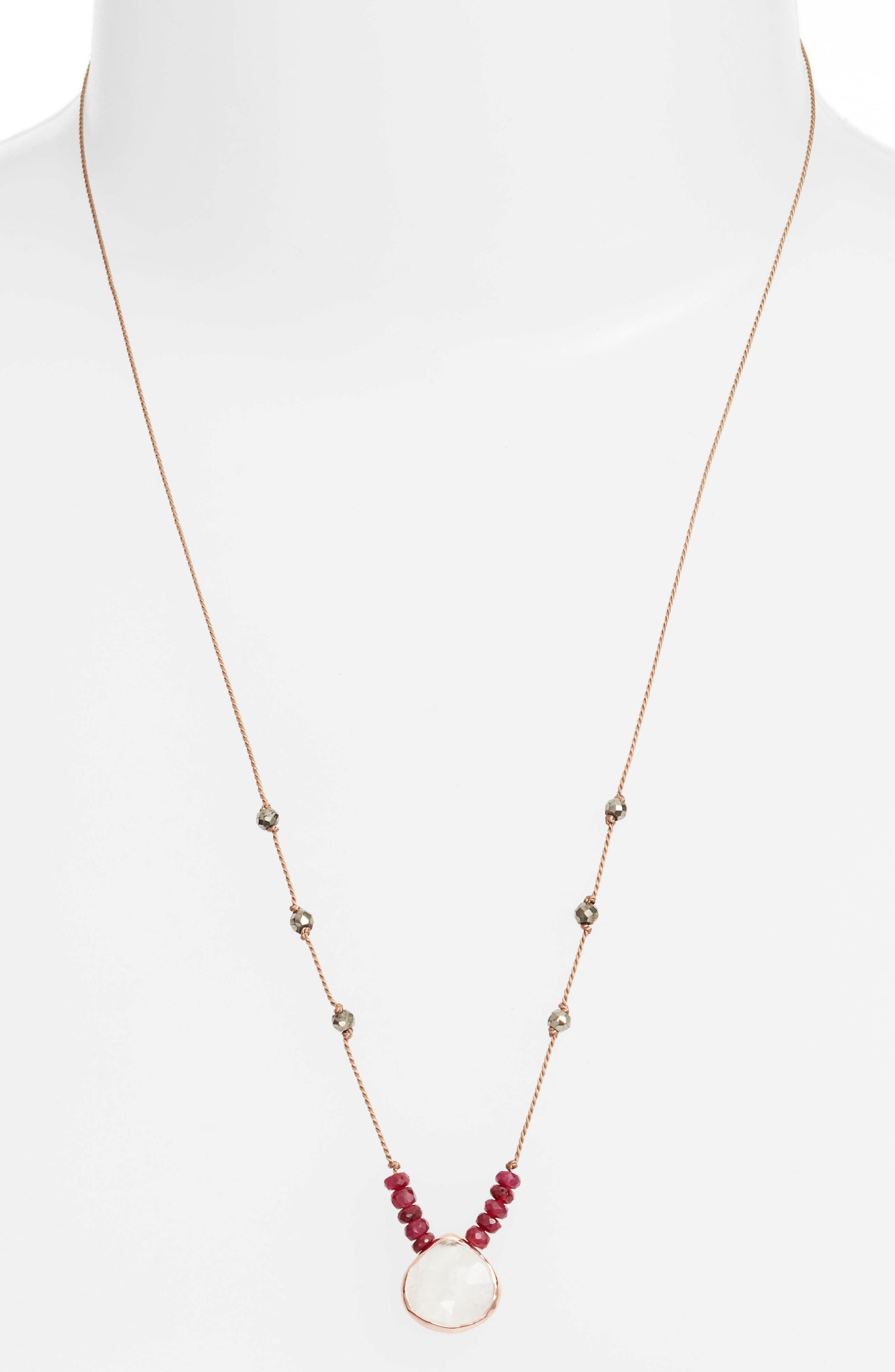 ela rae Sylvie Semiprecious Stone Necklace