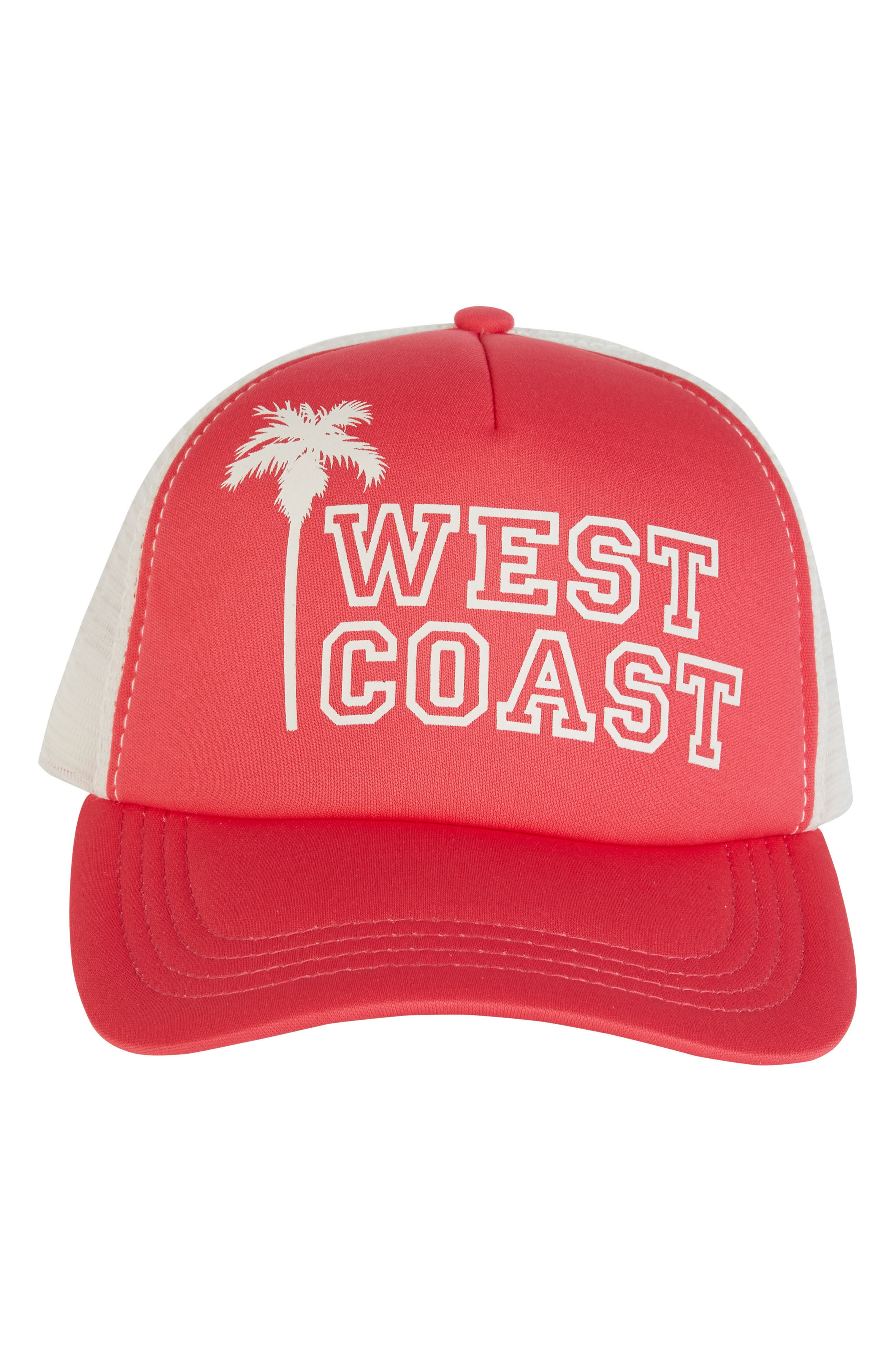Across Waves Baseball Cap,                             Alternate thumbnail 4, color,                             Passion Fruit