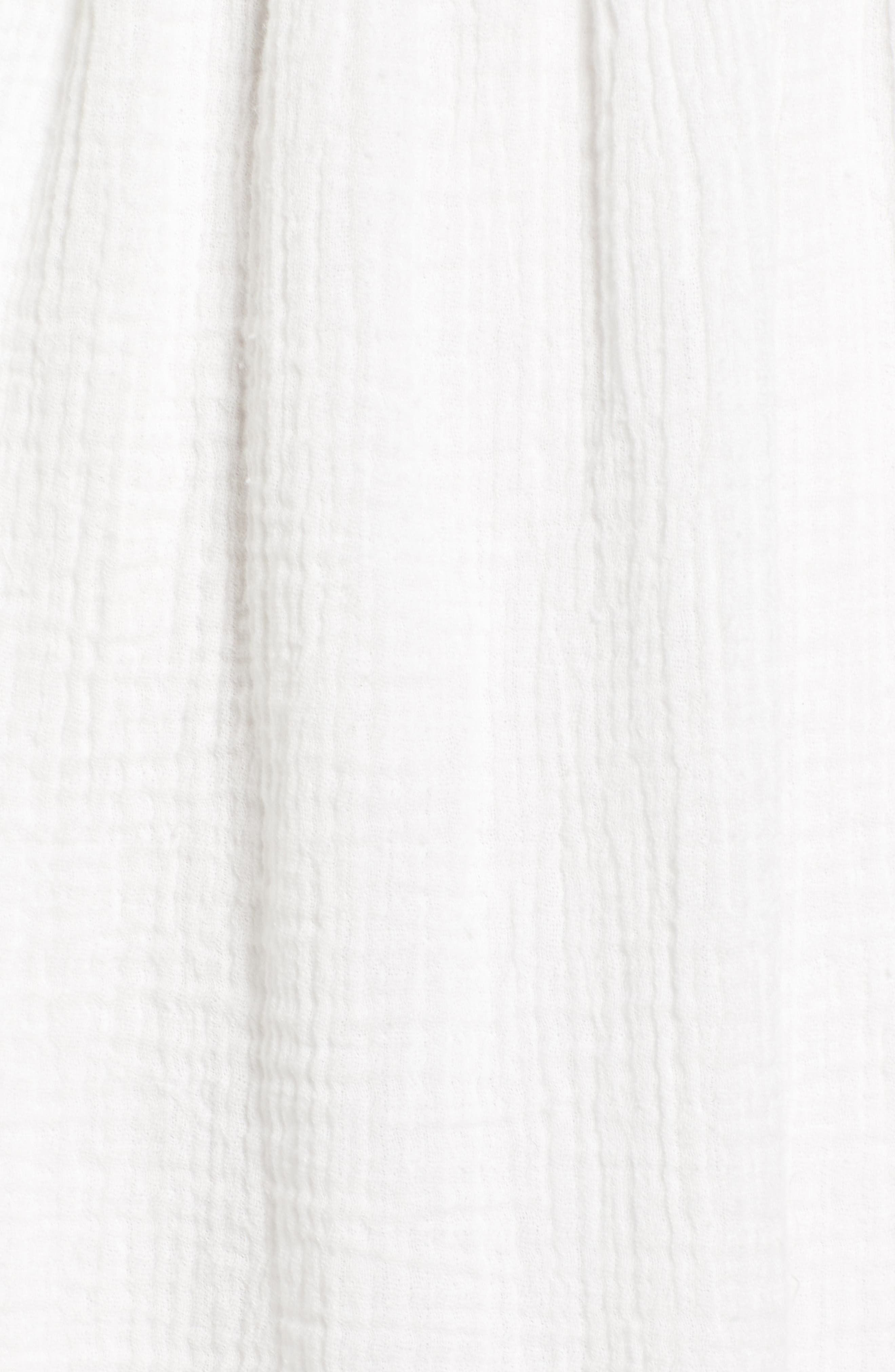 Sliding Currents Babydoll Dress,                             Alternate thumbnail 6, color,                             Off White
