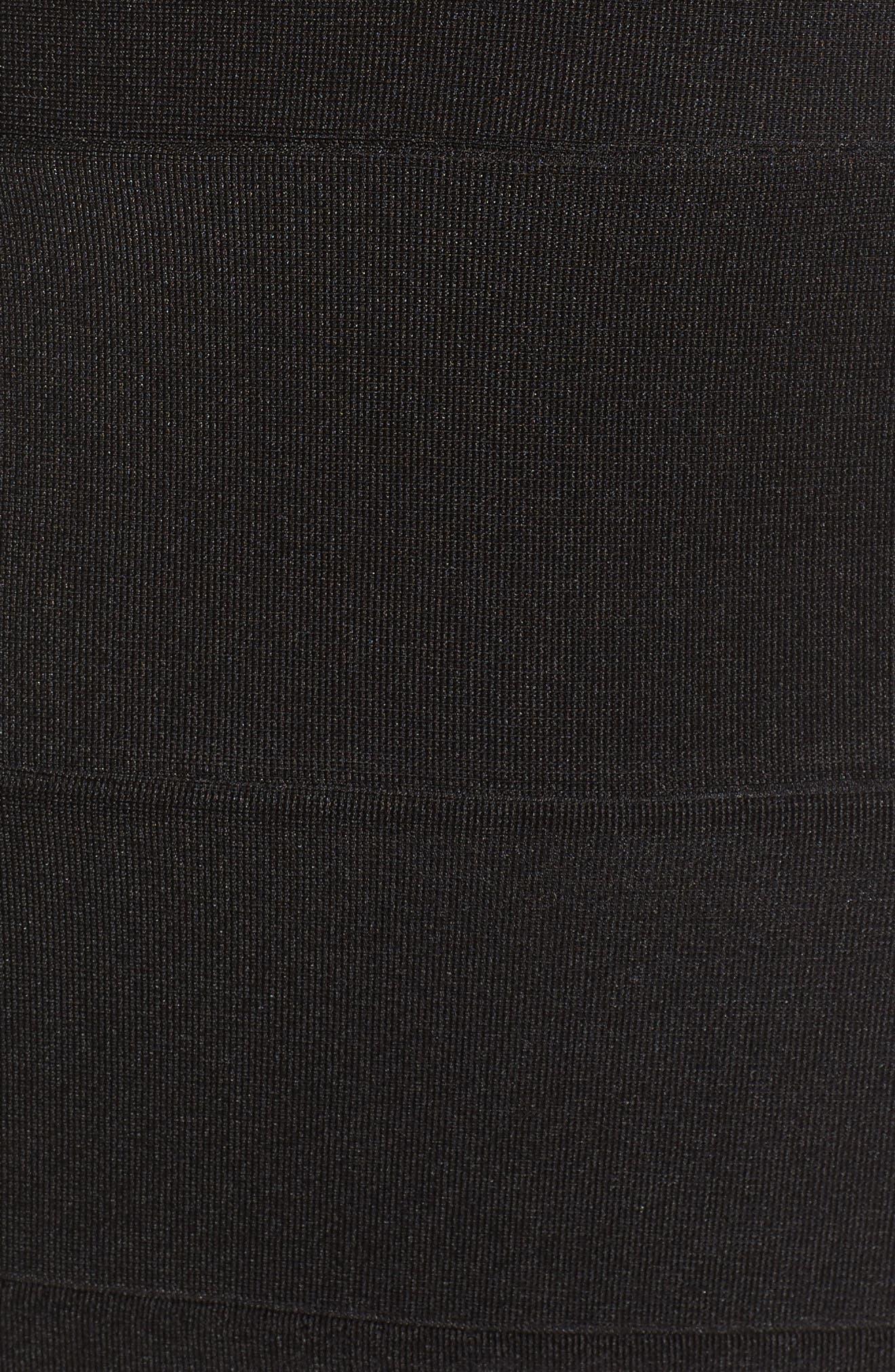 Lace Back Body-Con Dress,                             Alternate thumbnail 5, color,                             Black