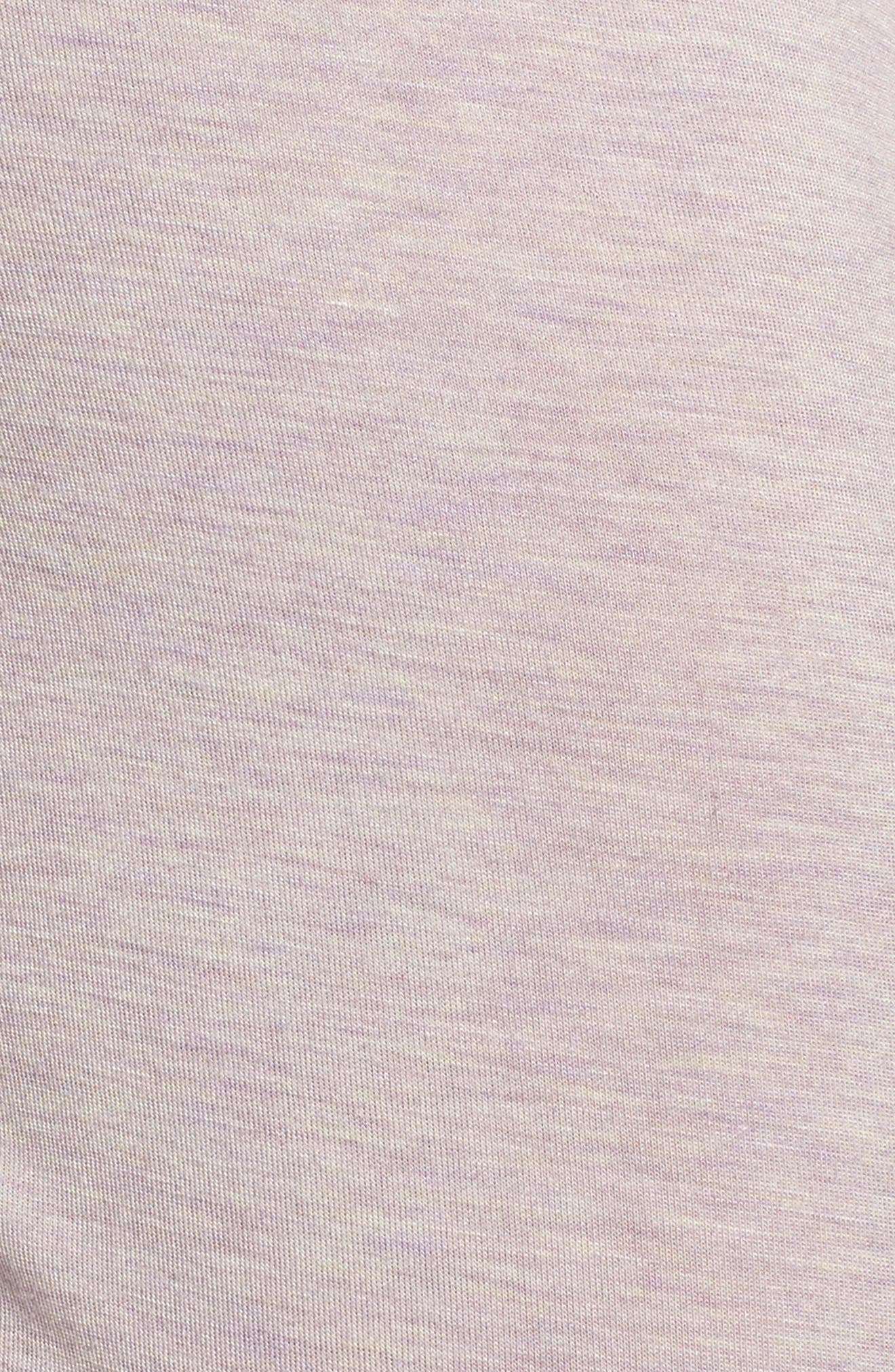 Lenon Jersey Pajamas,                             Alternate thumbnail 6, color,                             Lavender Fog Heather