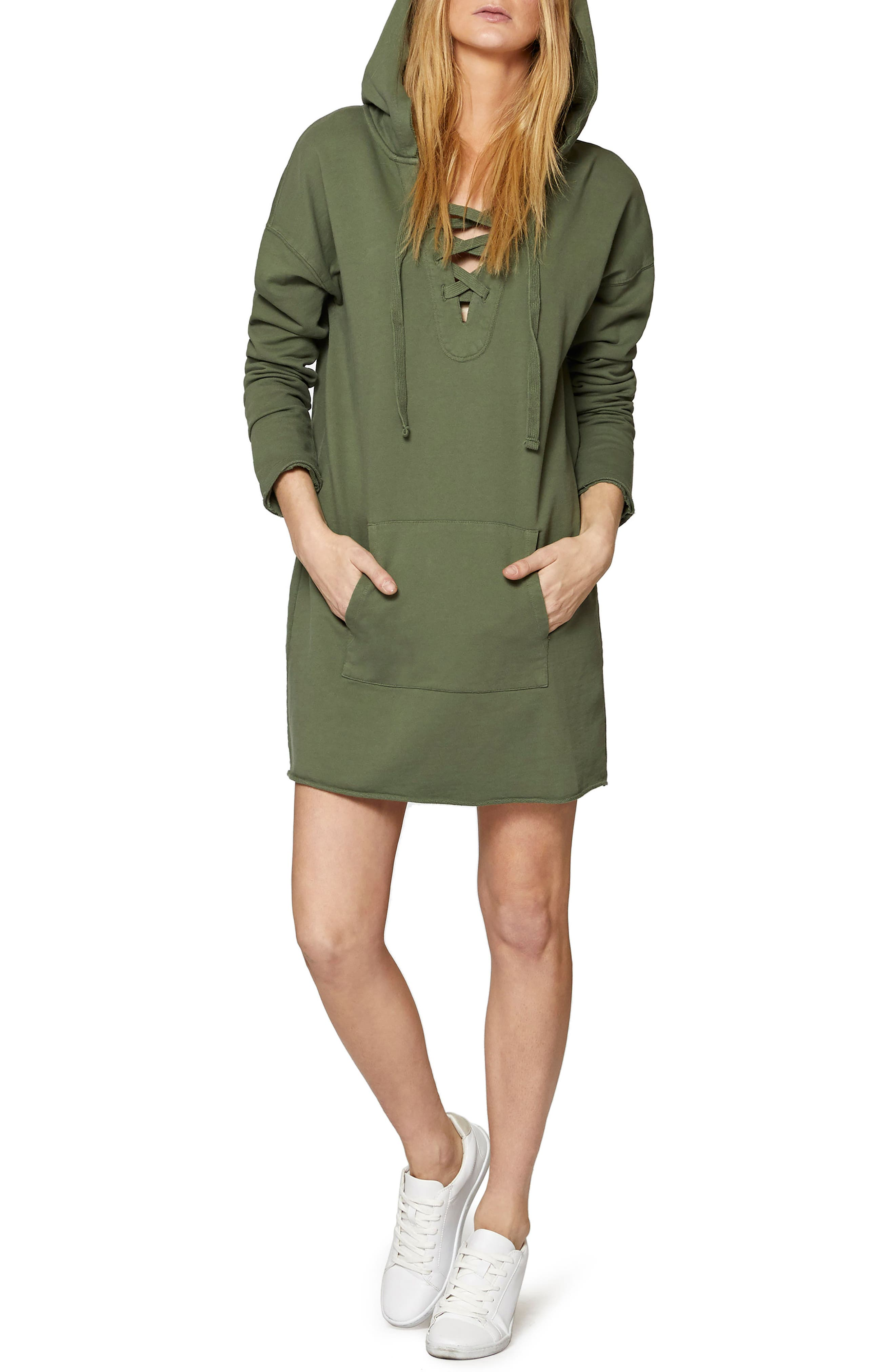 Lower East Hoodie Tunic,                             Alternate thumbnail 3, color,                             Cadet