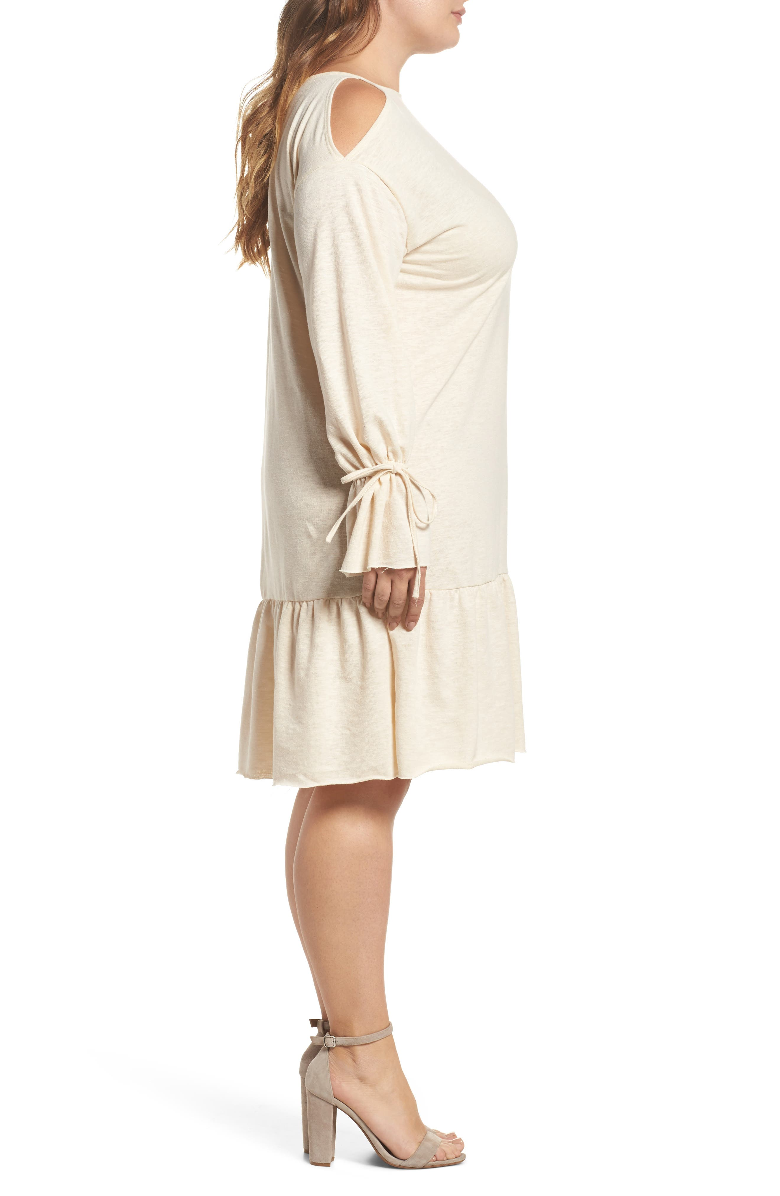 Alternate Image 3  - Glamorous Flounce Hem Shift Dress (Plus Size)