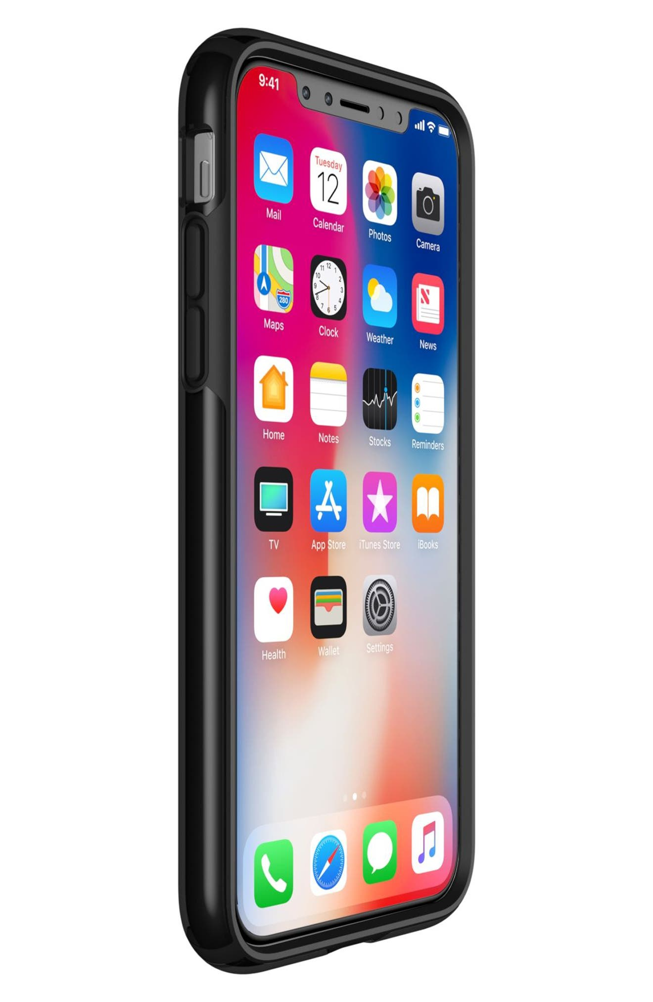 Transparent iPhone X Case,                             Alternate thumbnail 6, color,                             Clear/ Black