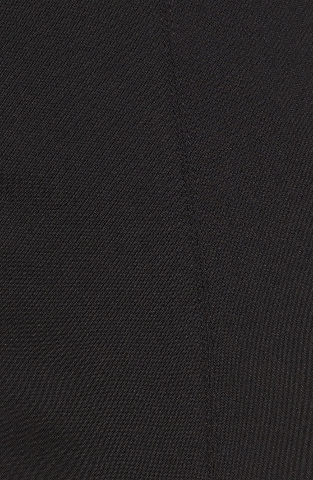 Drawstring Waist Woven Jogger Pants,                             Alternate thumbnail 5, color,                             Black
