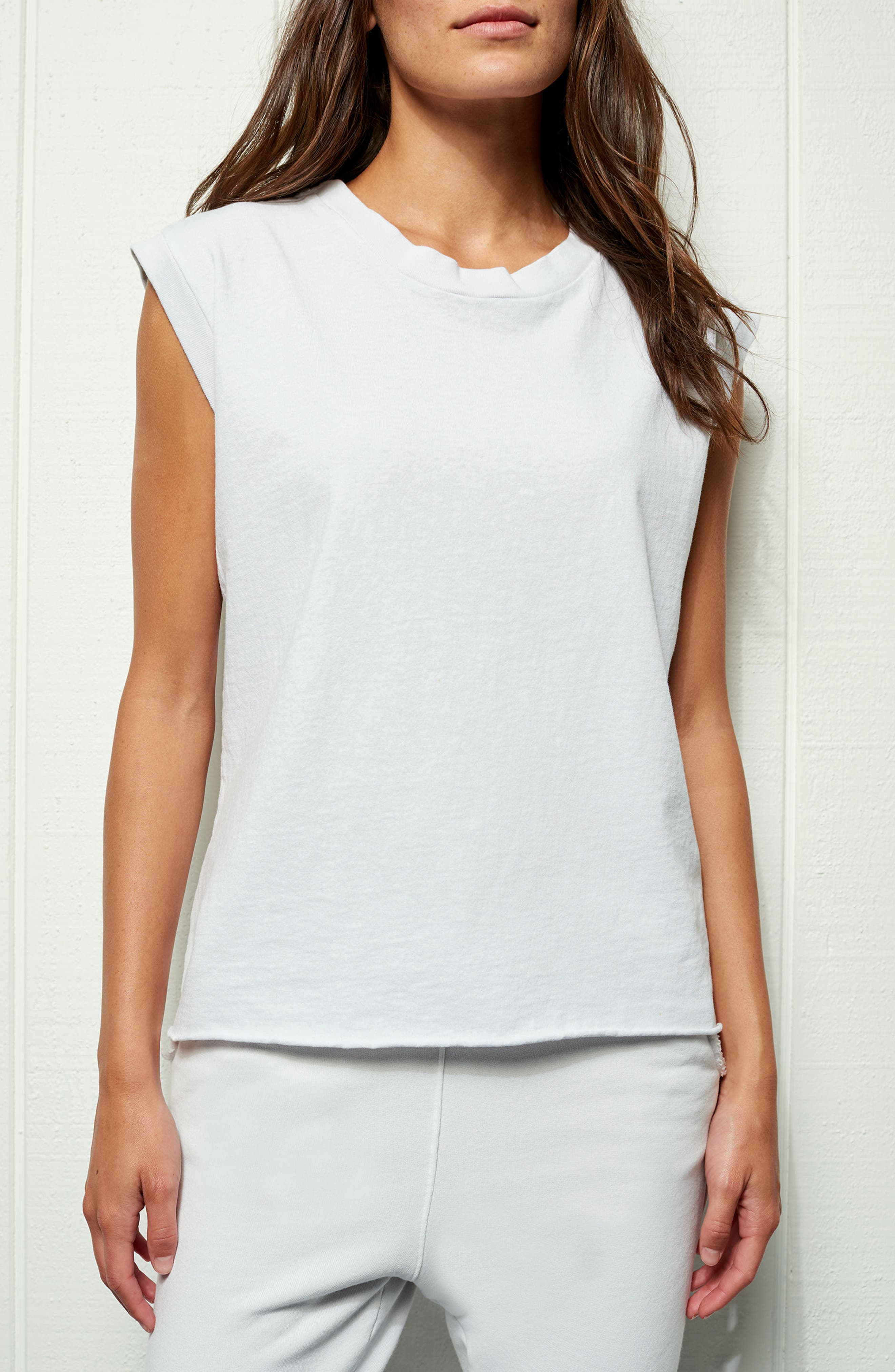 Tee Lab Muscle Tank,                             Alternate thumbnail 7, color,                             Dirty White