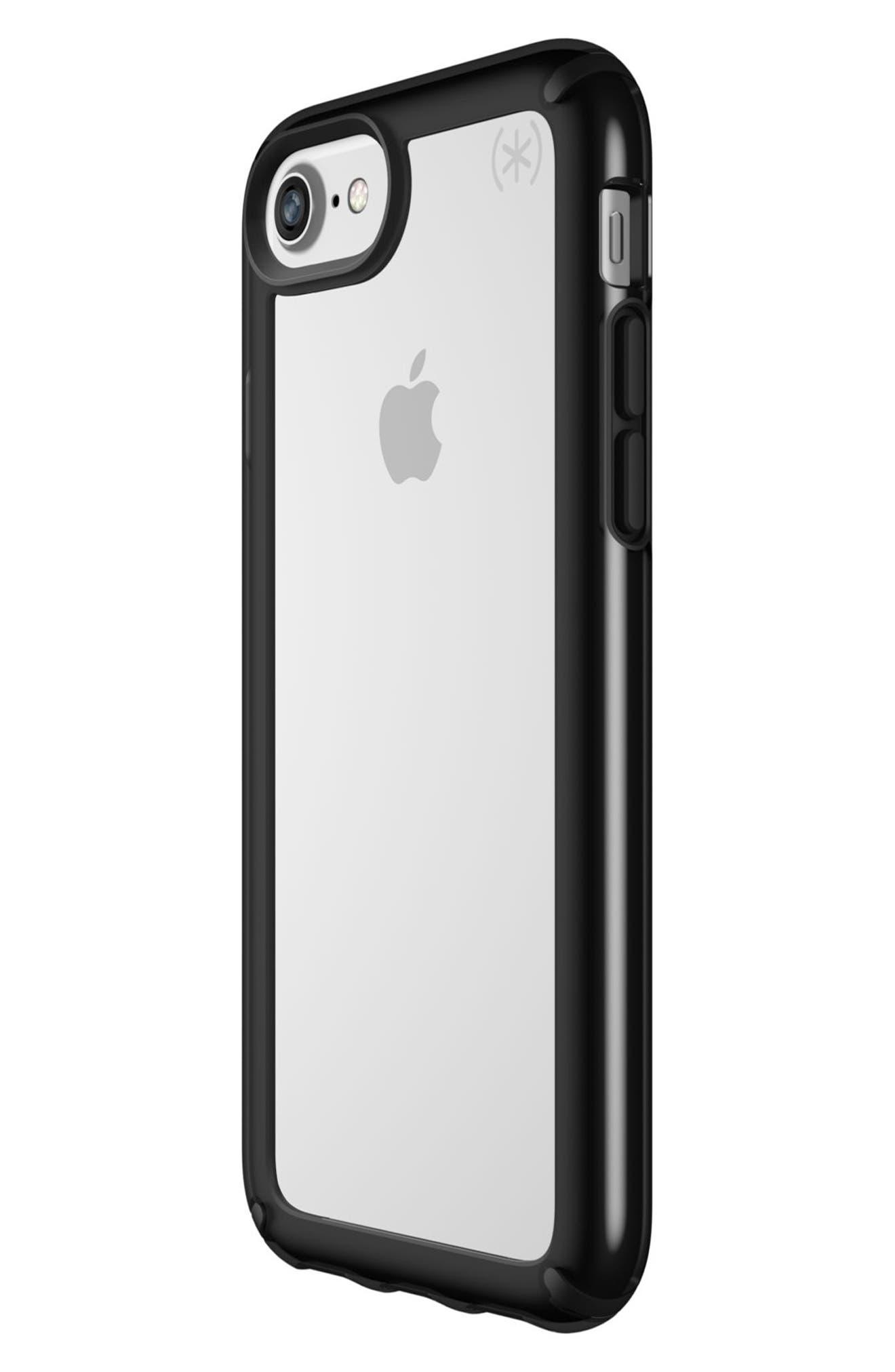 Transparent iPhone 6/6s/7/8 Case,                             Alternate thumbnail 7, color,                             Clear/ Black