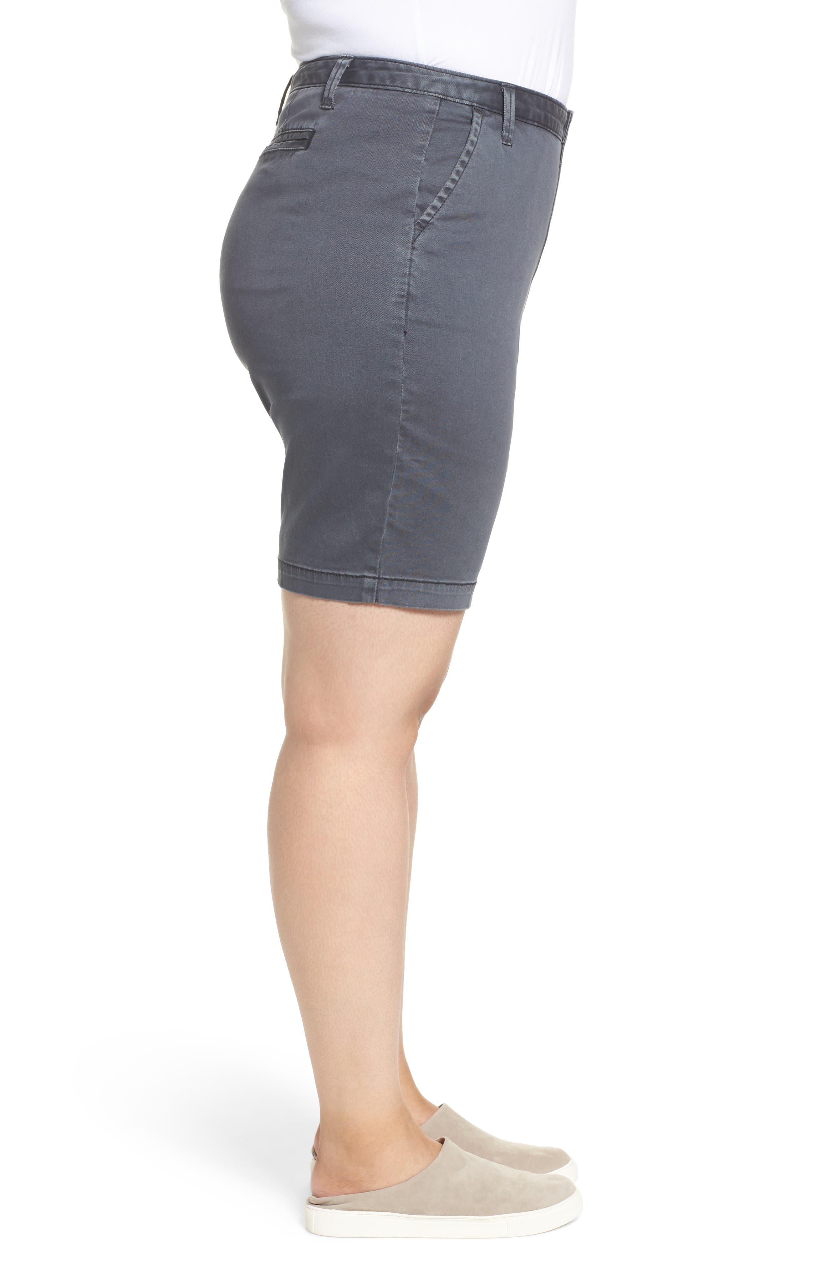 Twill Shorts,                             Alternate thumbnail 3, color,                             Grey Ebony