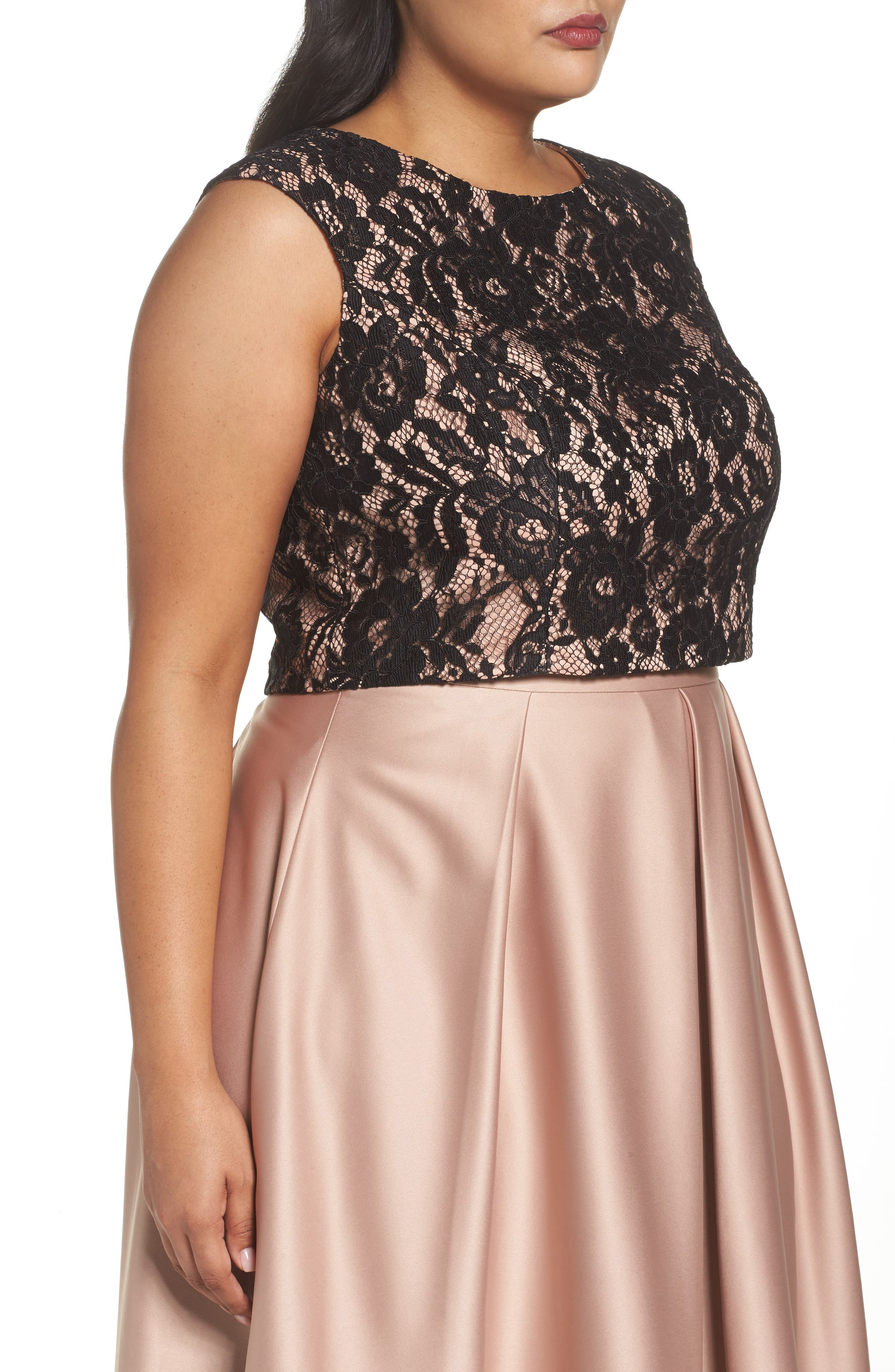 Alternate Image 3  - City Chic Decadent Lace Top (Plus Size)