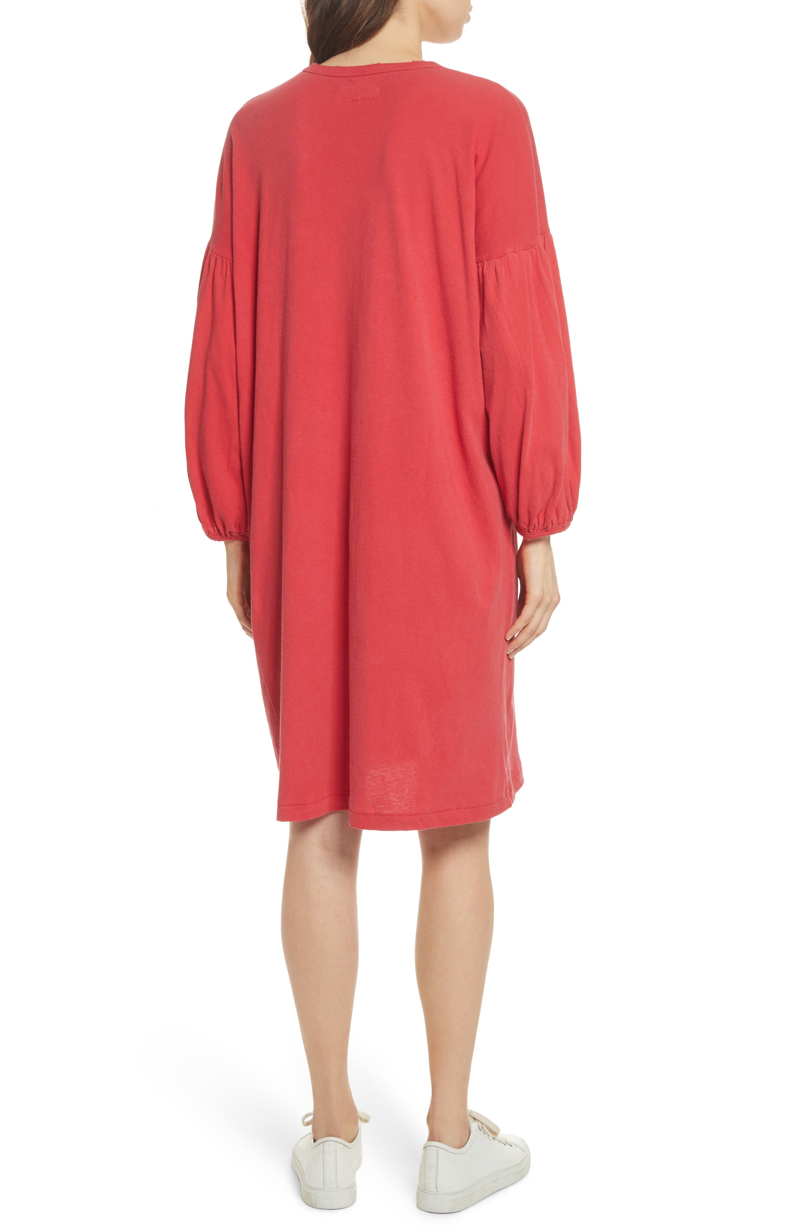 The Bubble Sleeve Dress,                             Alternate thumbnail 2, color,                             Cherry Red