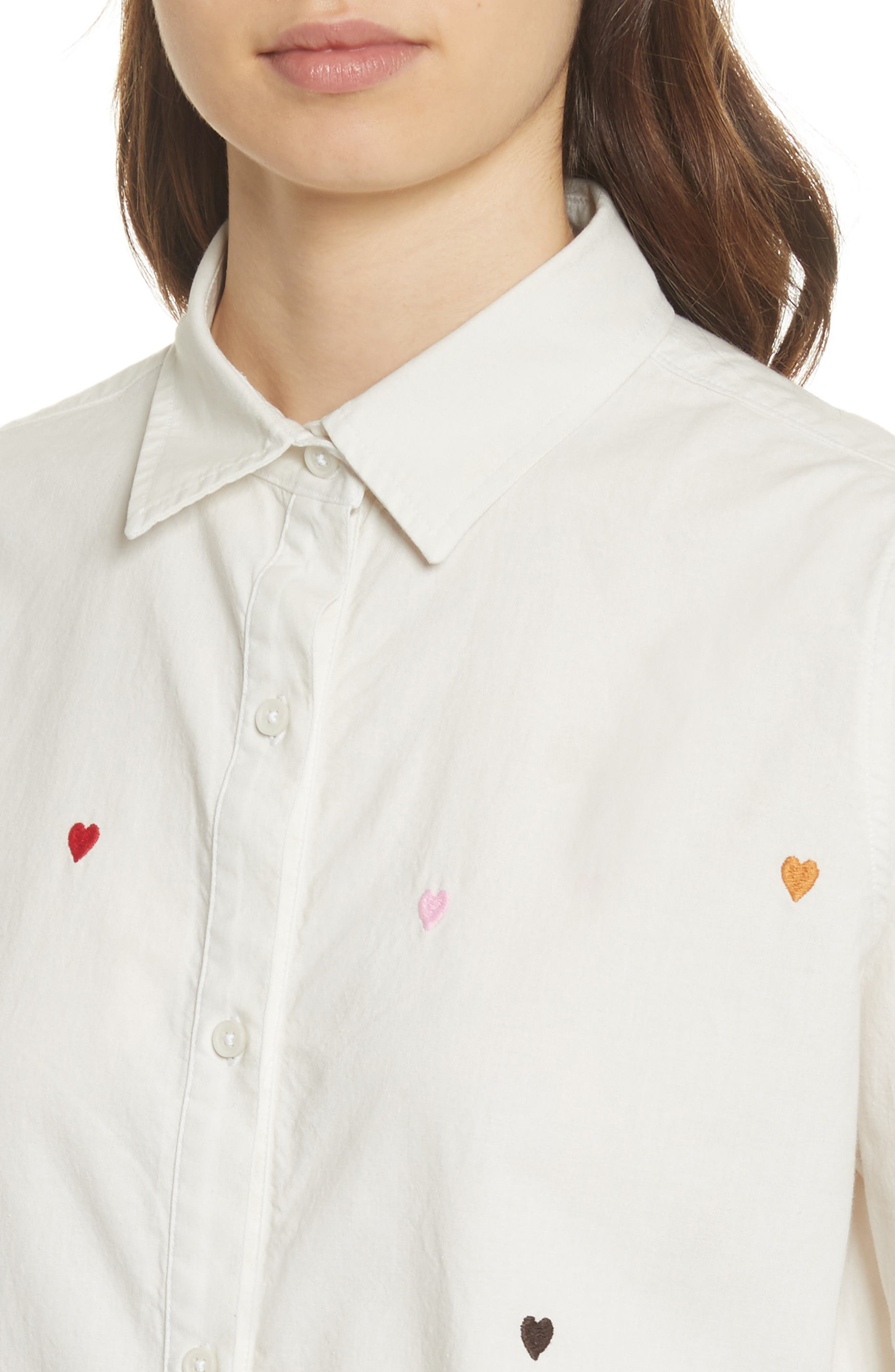 Alternate Image 4  - THE GREAT. The Campus Heart Embroidered Shirt