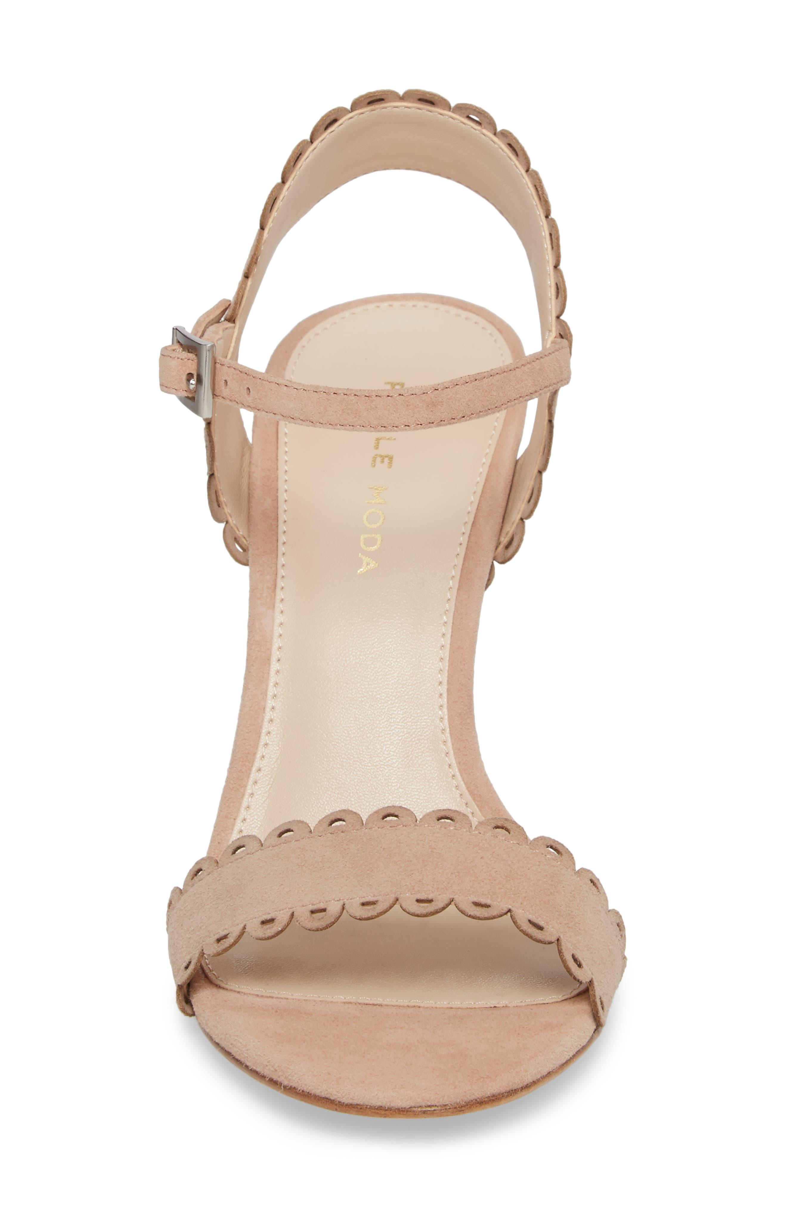 Alternate Image 4  - Pelle Moda Karen Scallop Ankle Strap Sandal (Women)