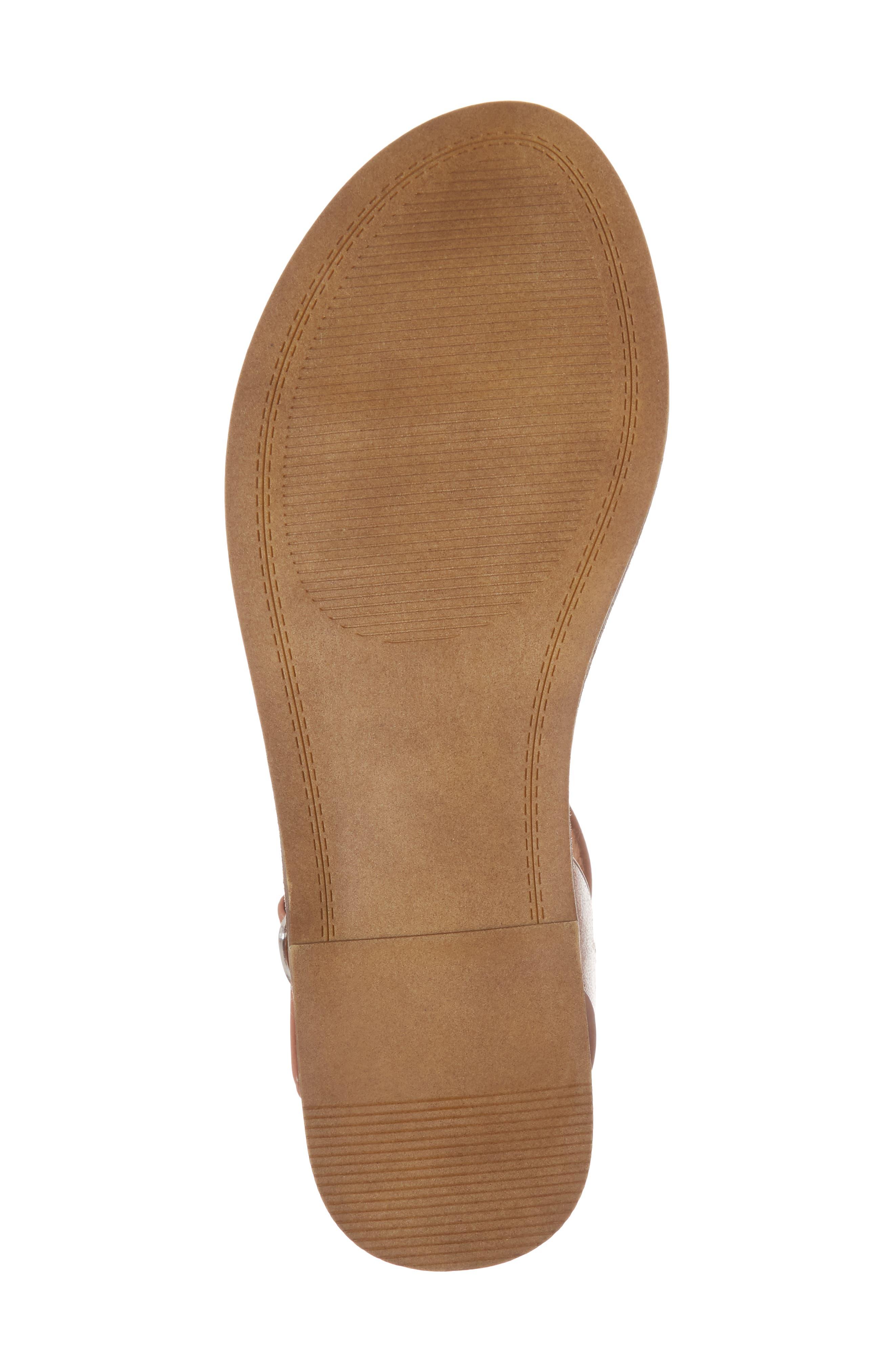 Dupe Sandal,                             Alternate thumbnail 6, color,                             Cognac Leather