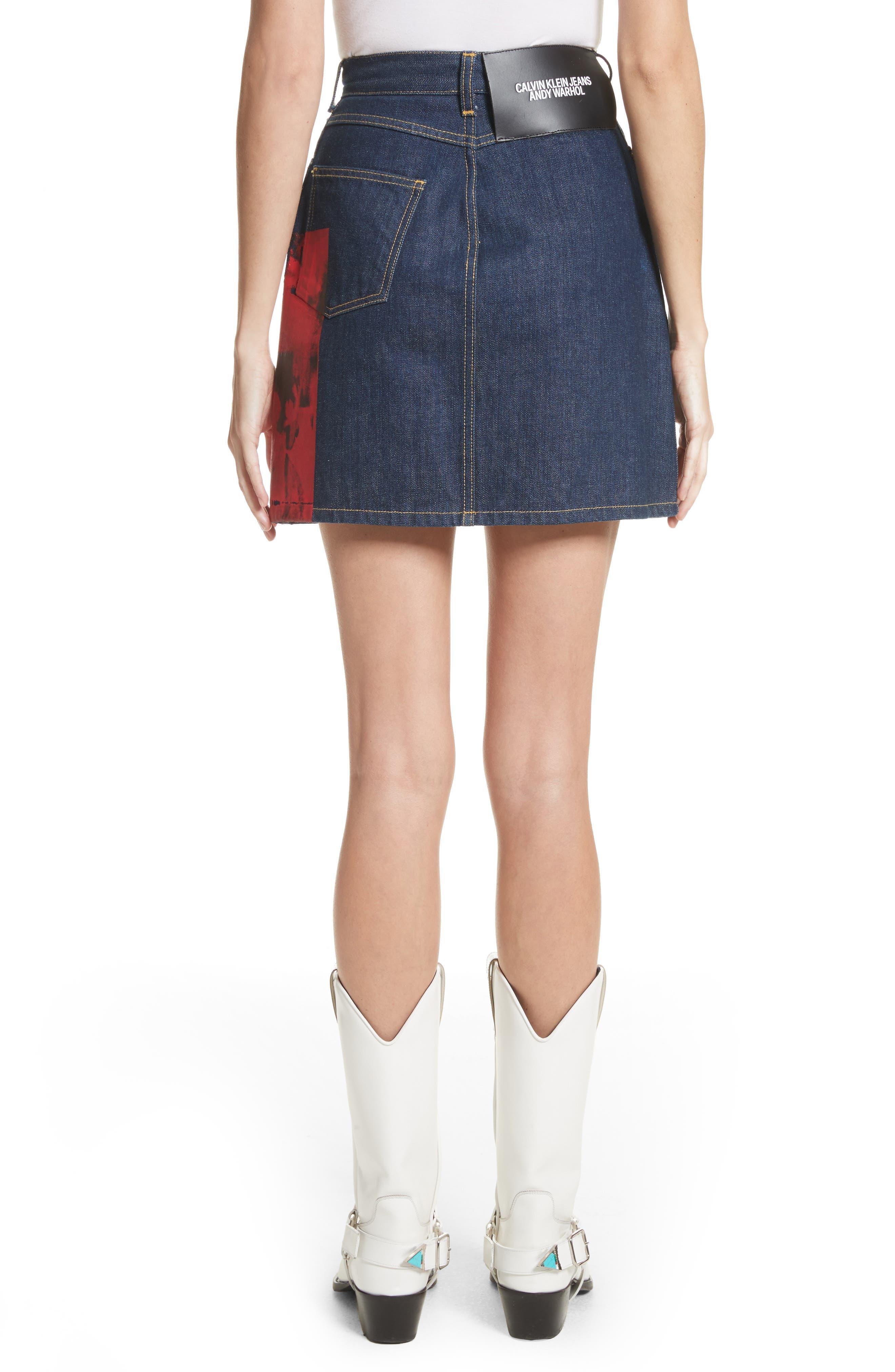 Alternate Image 3  - CALVIN KLEIN 205W39NYC x Andy Warhol Foundation Dennis Hopper Denim Skirt