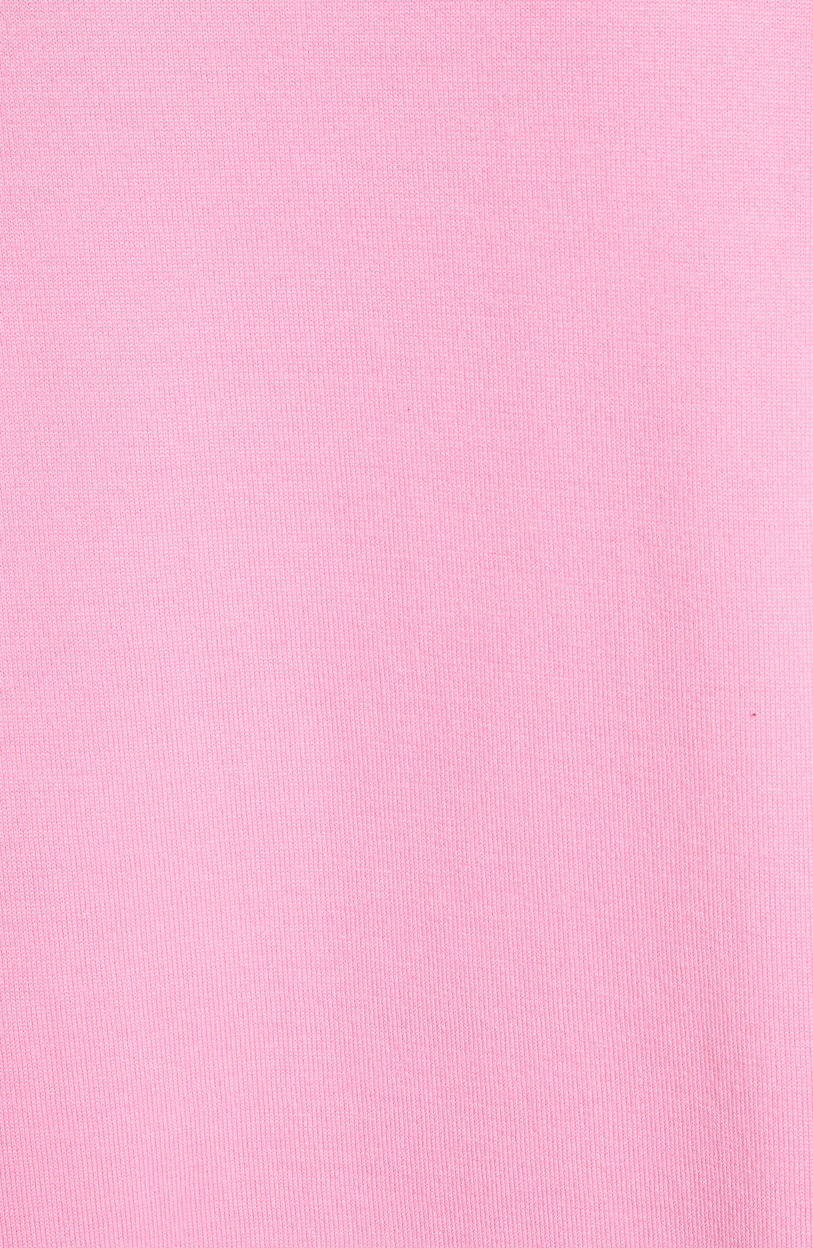 Scarf Hem Sweater,                             Alternate thumbnail 7, color,                             Rose Bloom