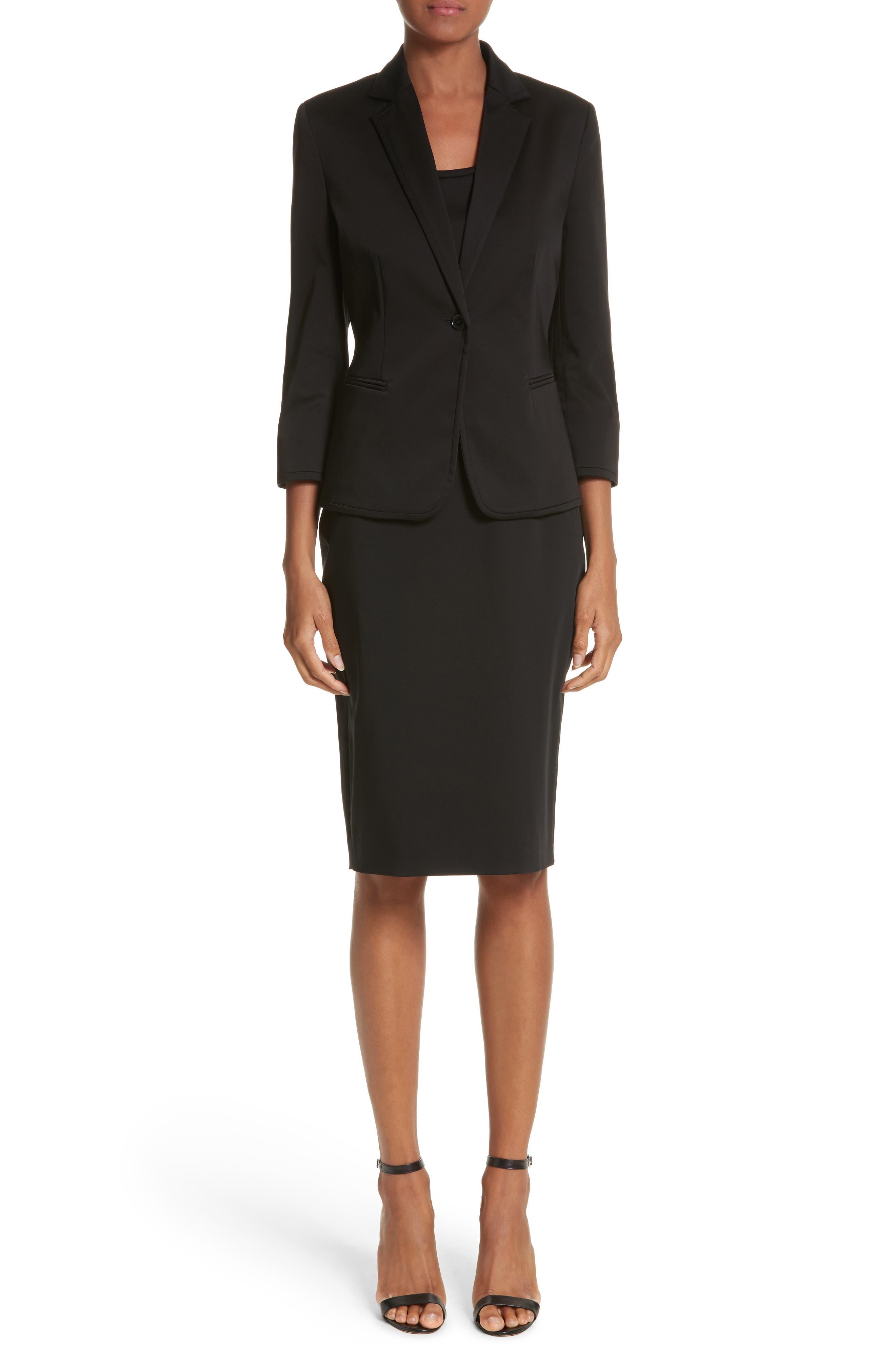 Segnale Sheath Dress,                             Alternate thumbnail 7, color,                             Black