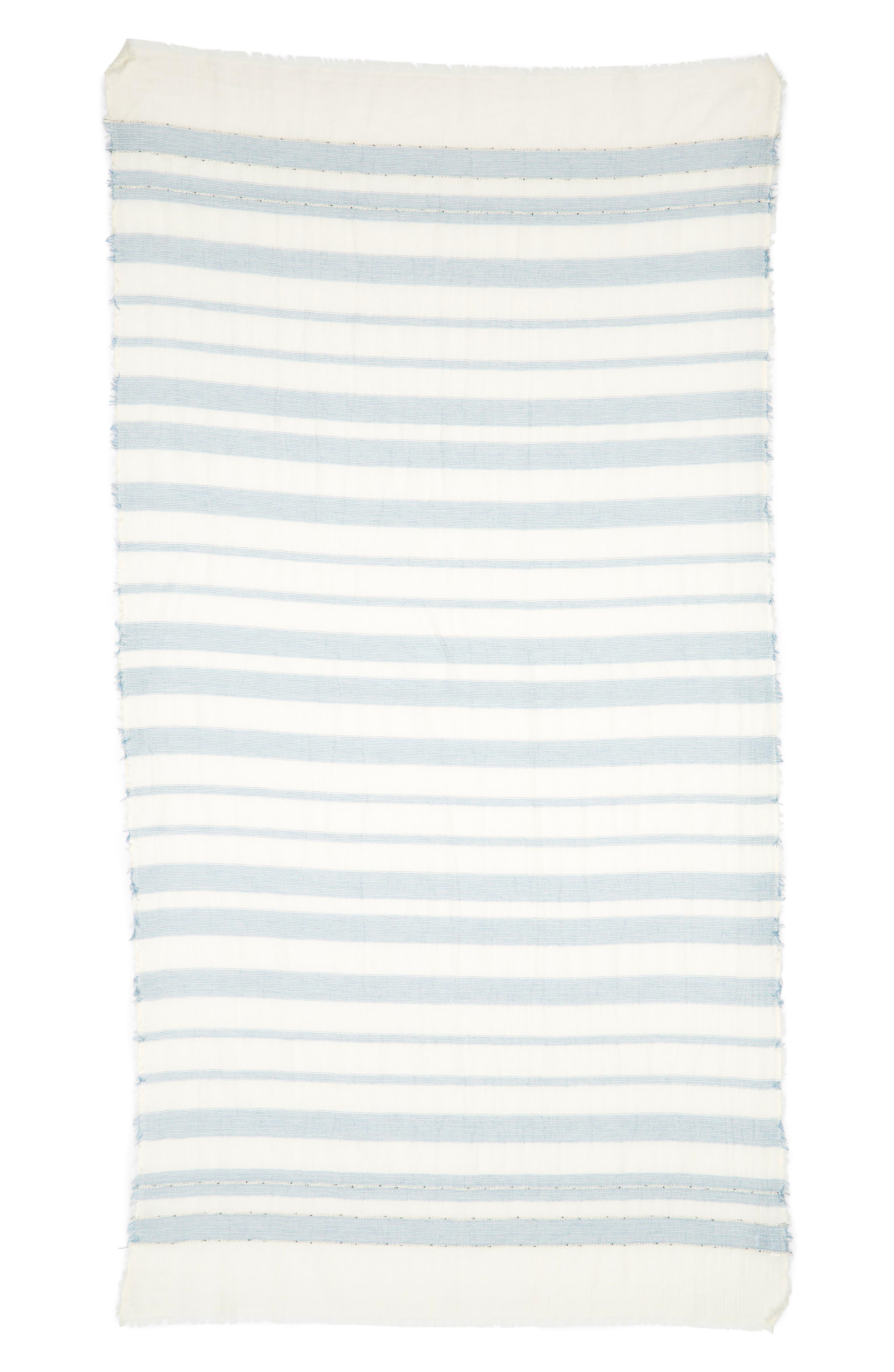 Stripe Scarf,                             Alternate thumbnail 2, color,                             Chambray