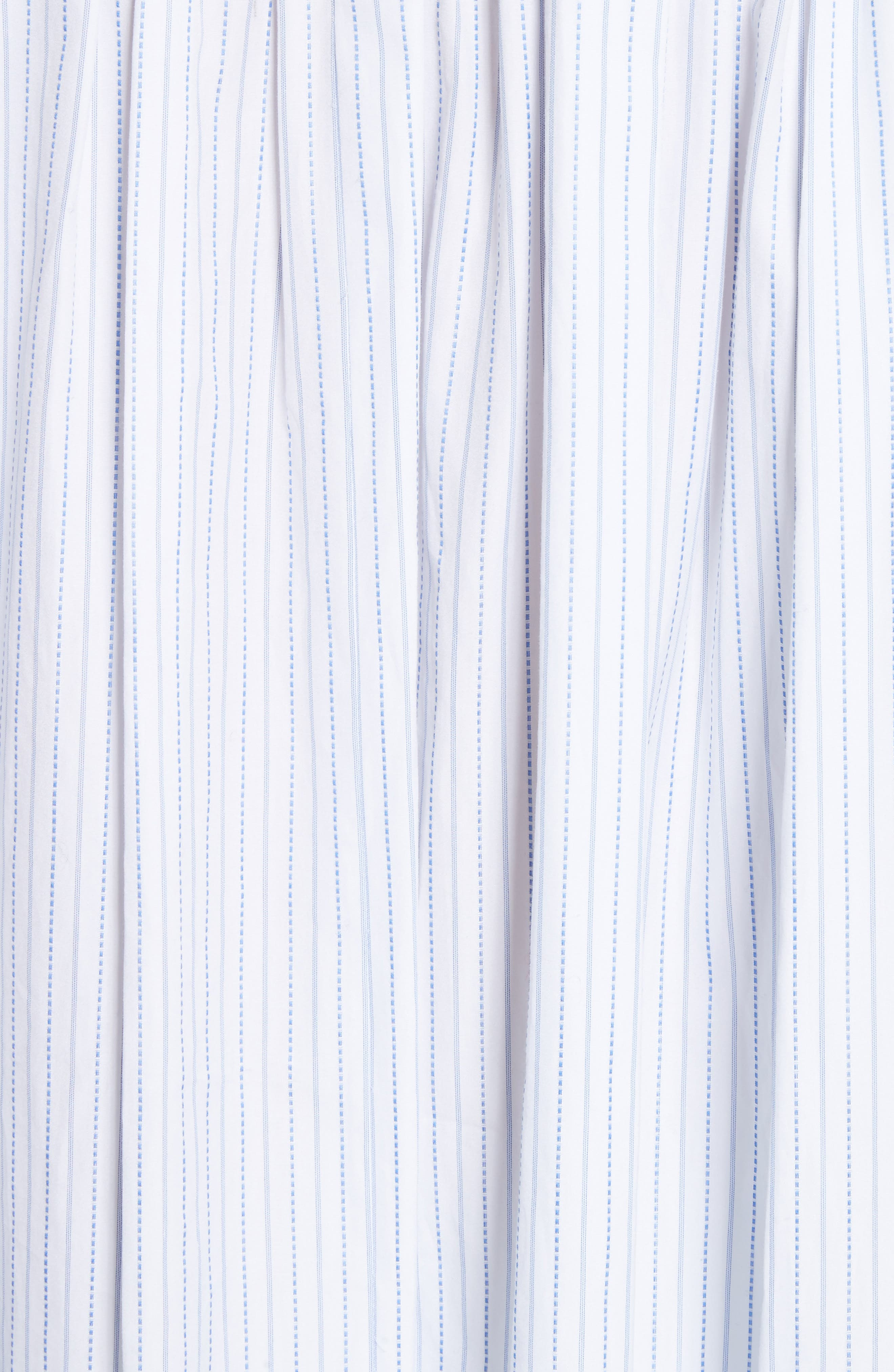 High/Low Stripe Cotton Poplin Shirt,                             Alternate thumbnail 5, color,                             White/ Blue