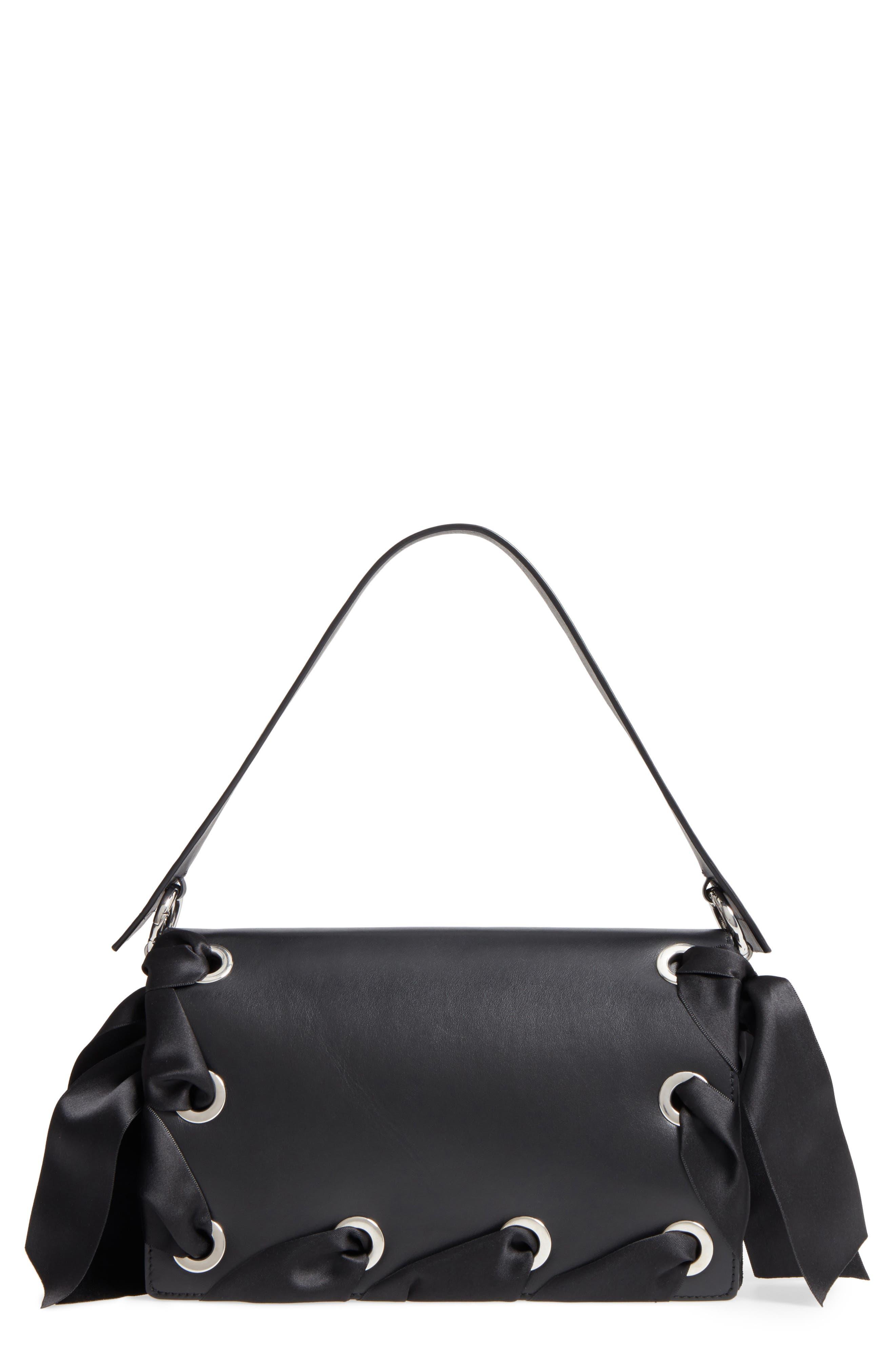 Alternate Image 1 Selected - Topshop Premium Grace Leather Shoulder Bag