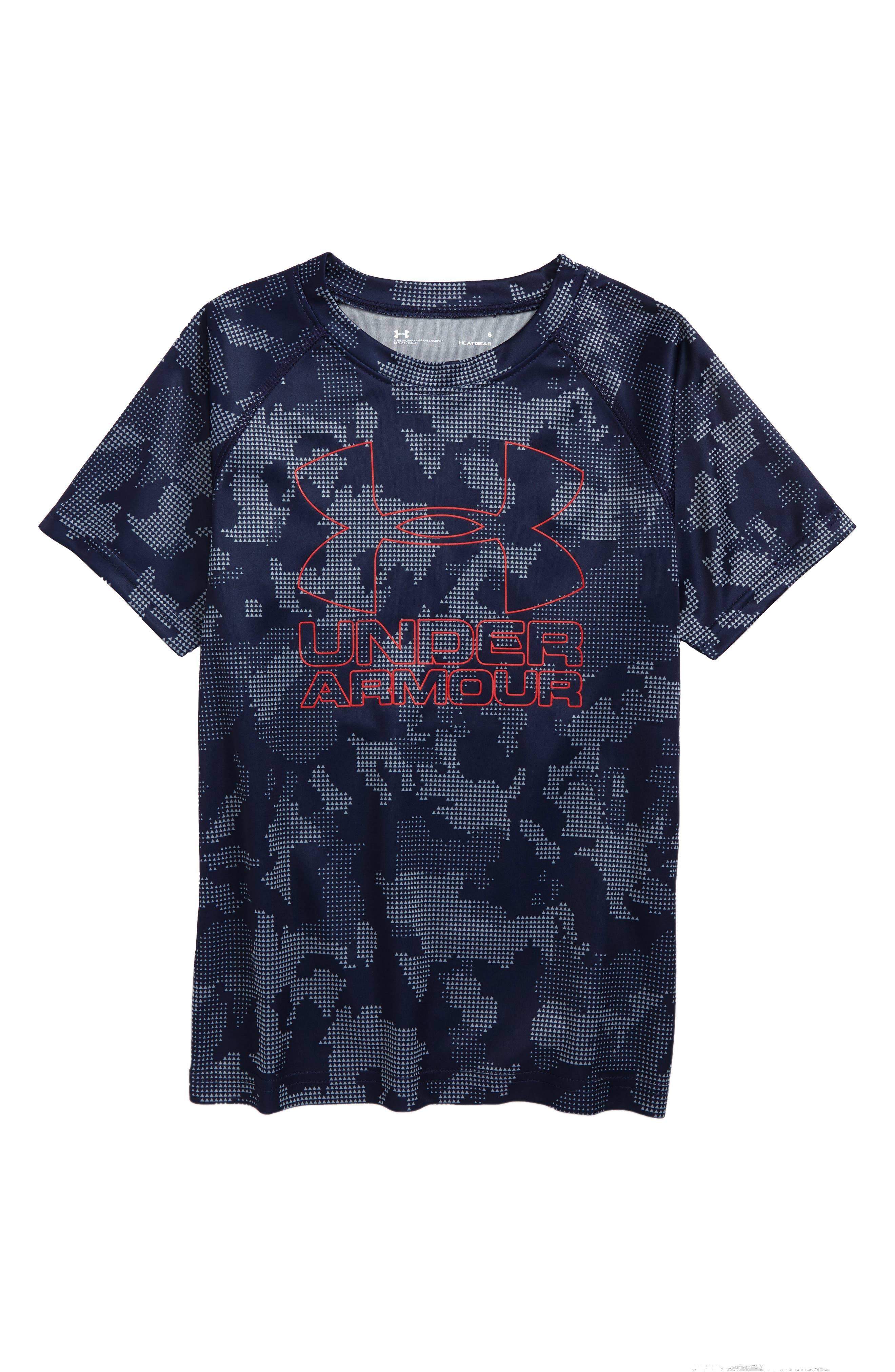 Utility Camo Big Logo Graphic T-Shirt,                             Main thumbnail 1, color,                             Midnight Navy Utility Camo