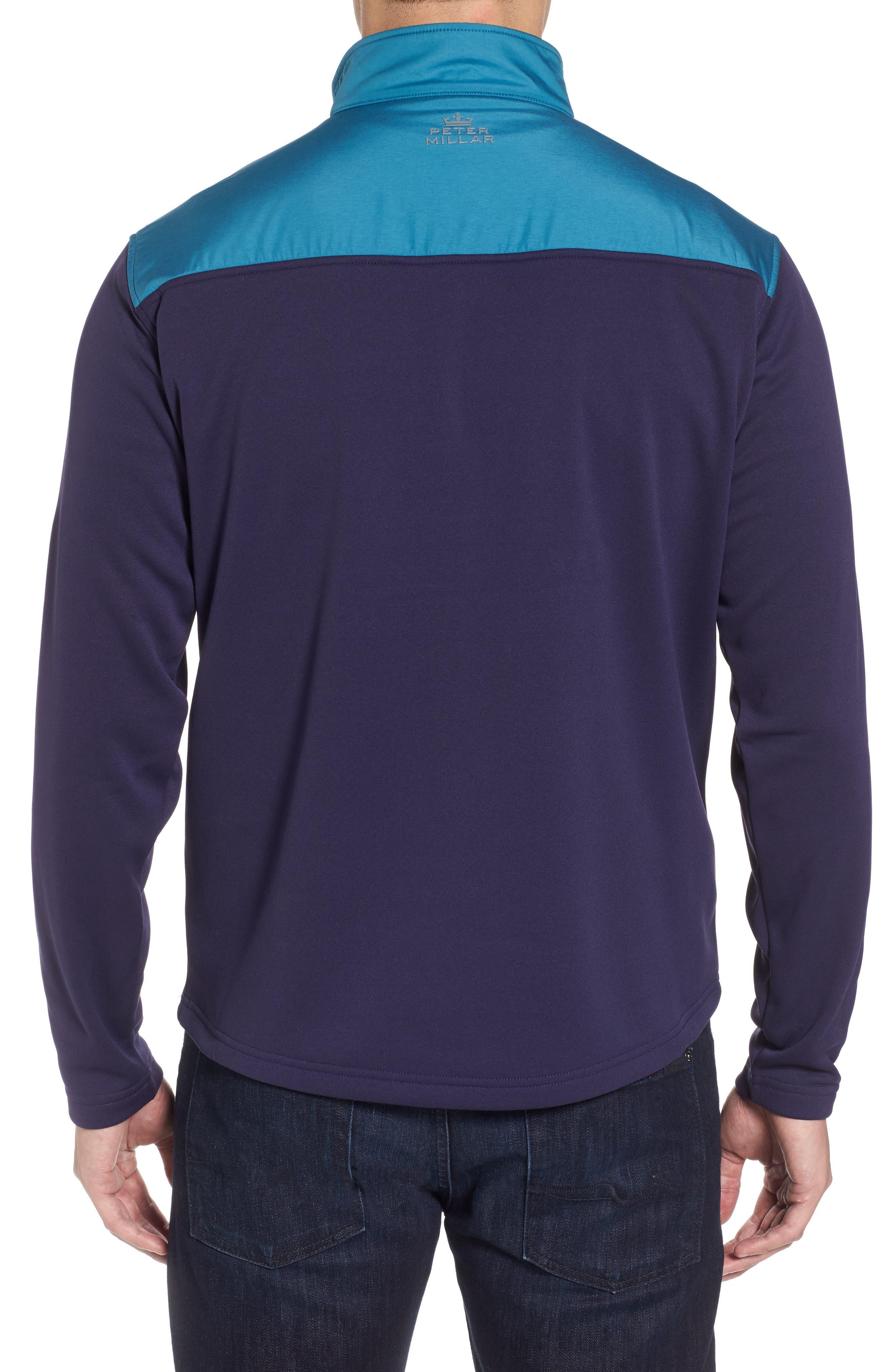 Sheffield Hybrid Half Zip Pullover,                             Alternate thumbnail 2, color,                             Yankee Blue