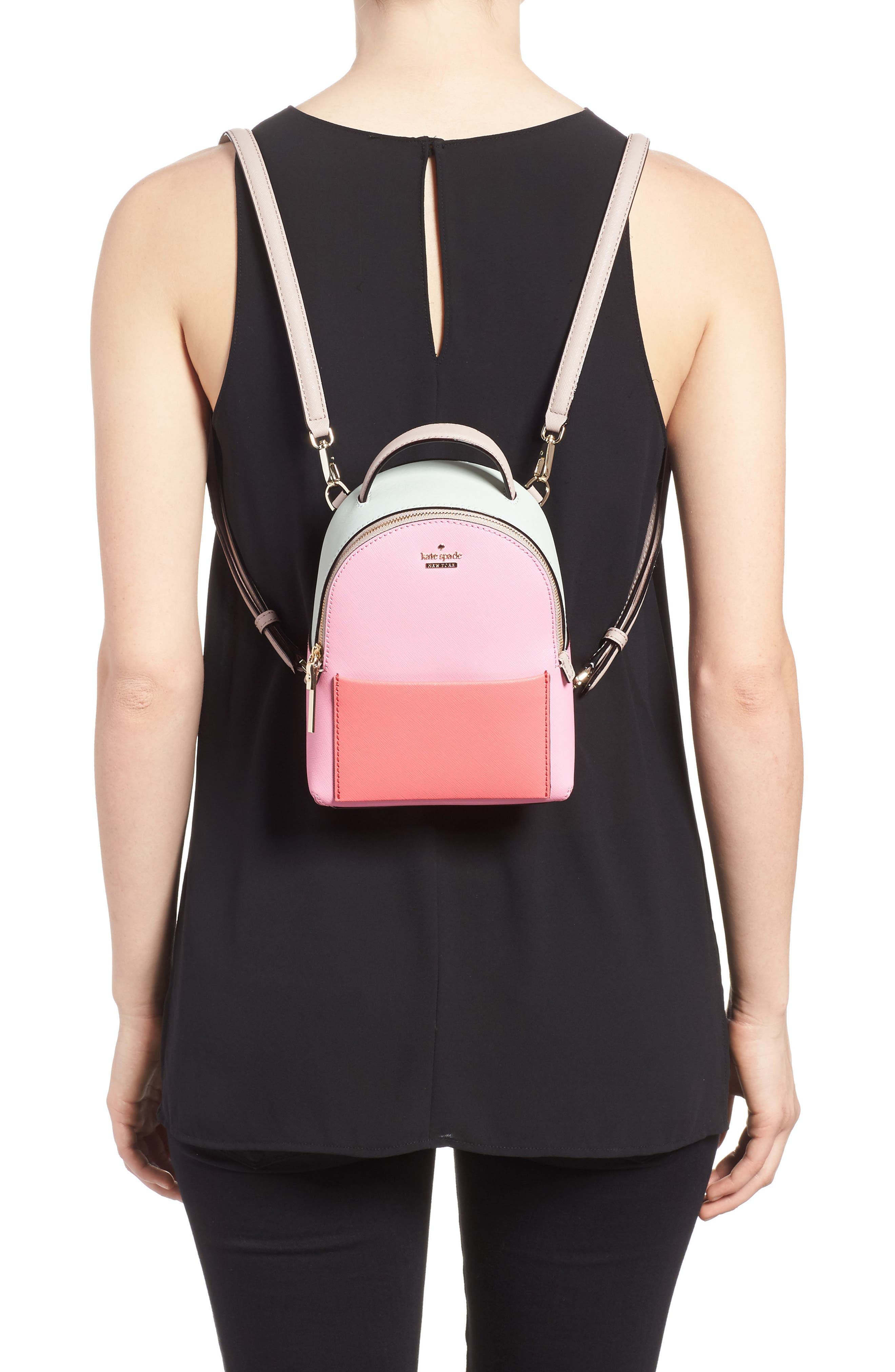cameron street merry convertible leather backpack,                             Alternate thumbnail 2, color,                             Eraser Pink Multi