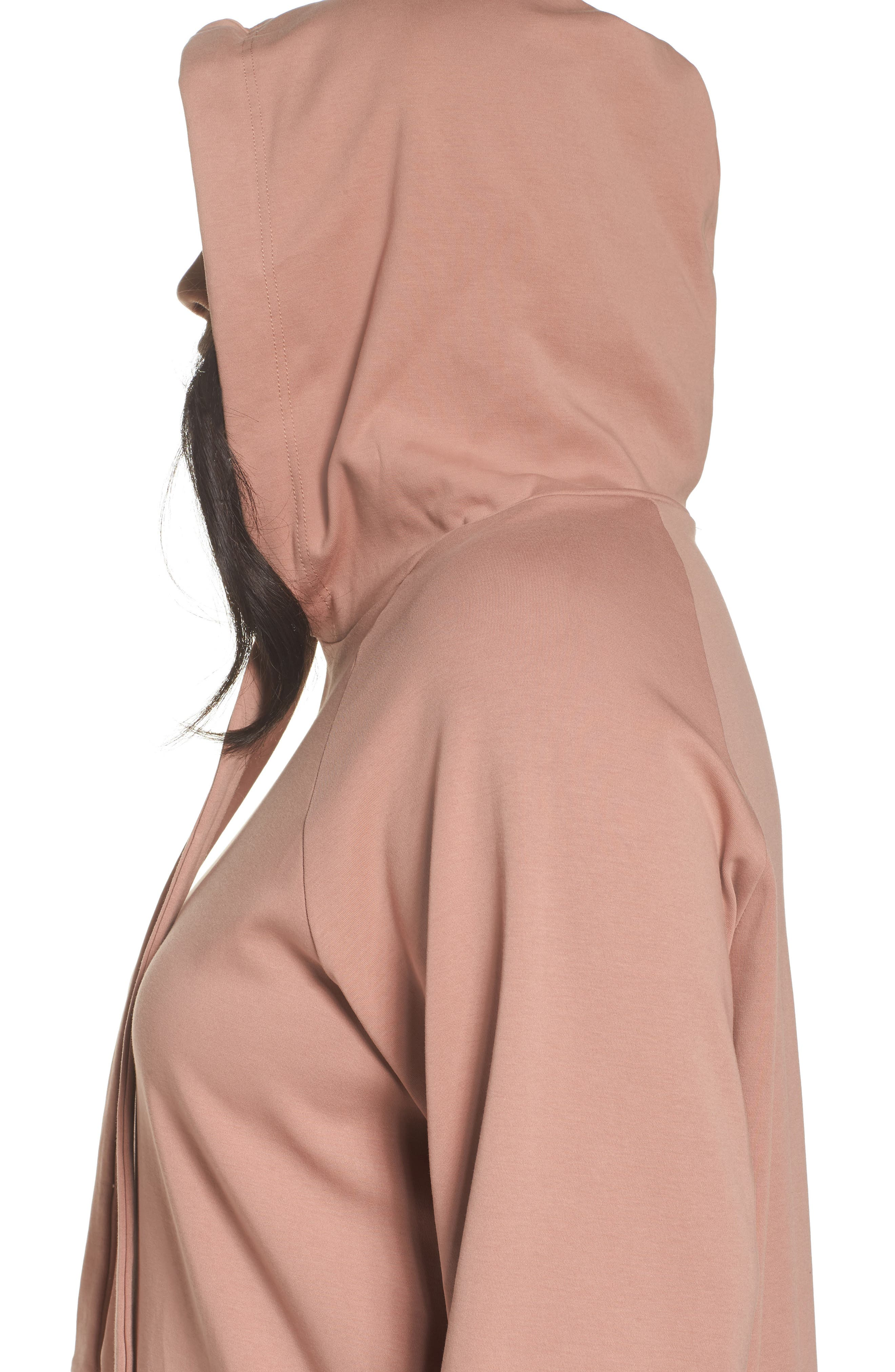 Hoodie Tunic,                             Alternate thumbnail 4, color,                             Dusty Rose