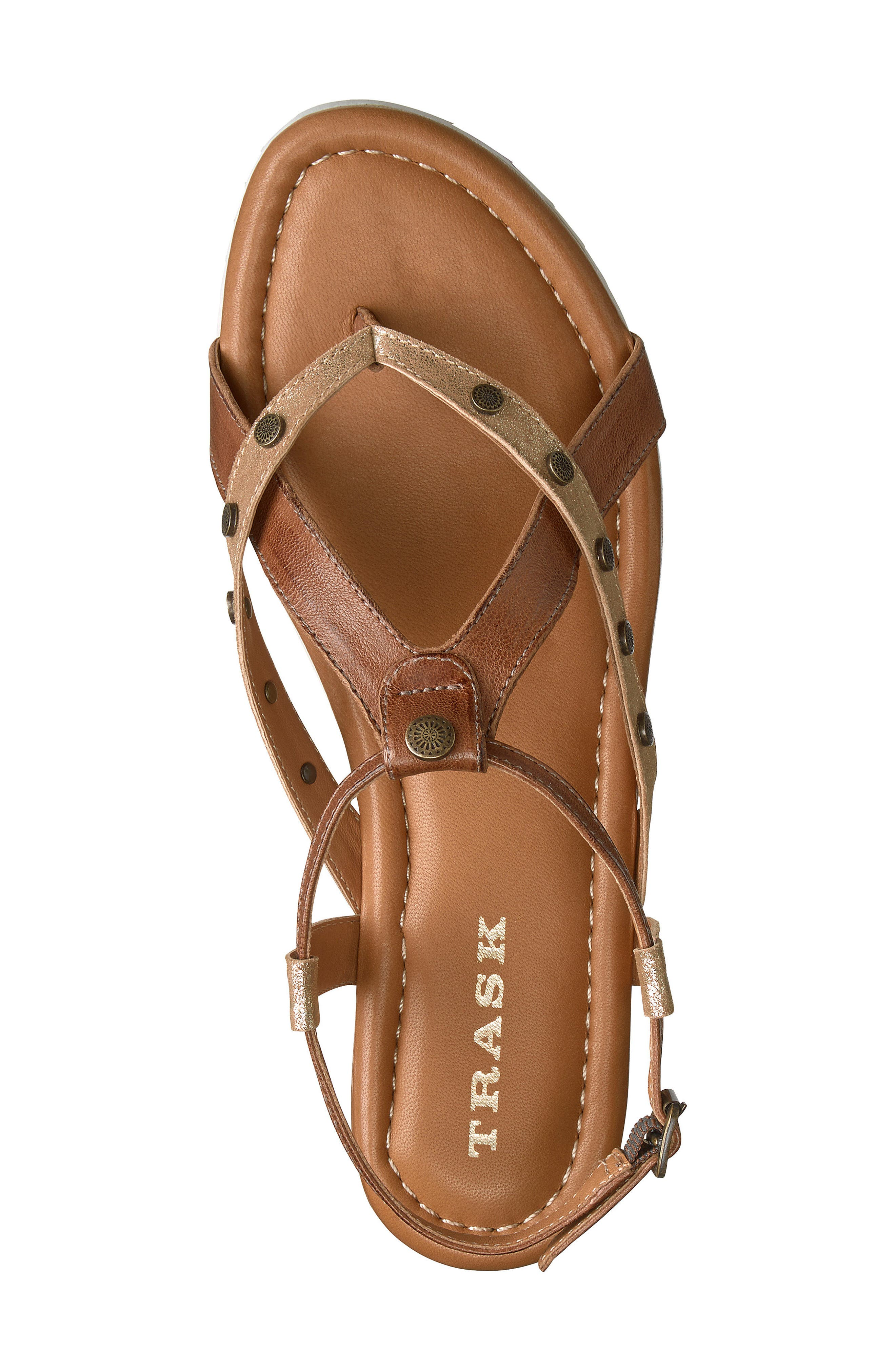 Shayla Water Resistant Sandal,                             Alternate thumbnail 5, color,                             Teak Suede