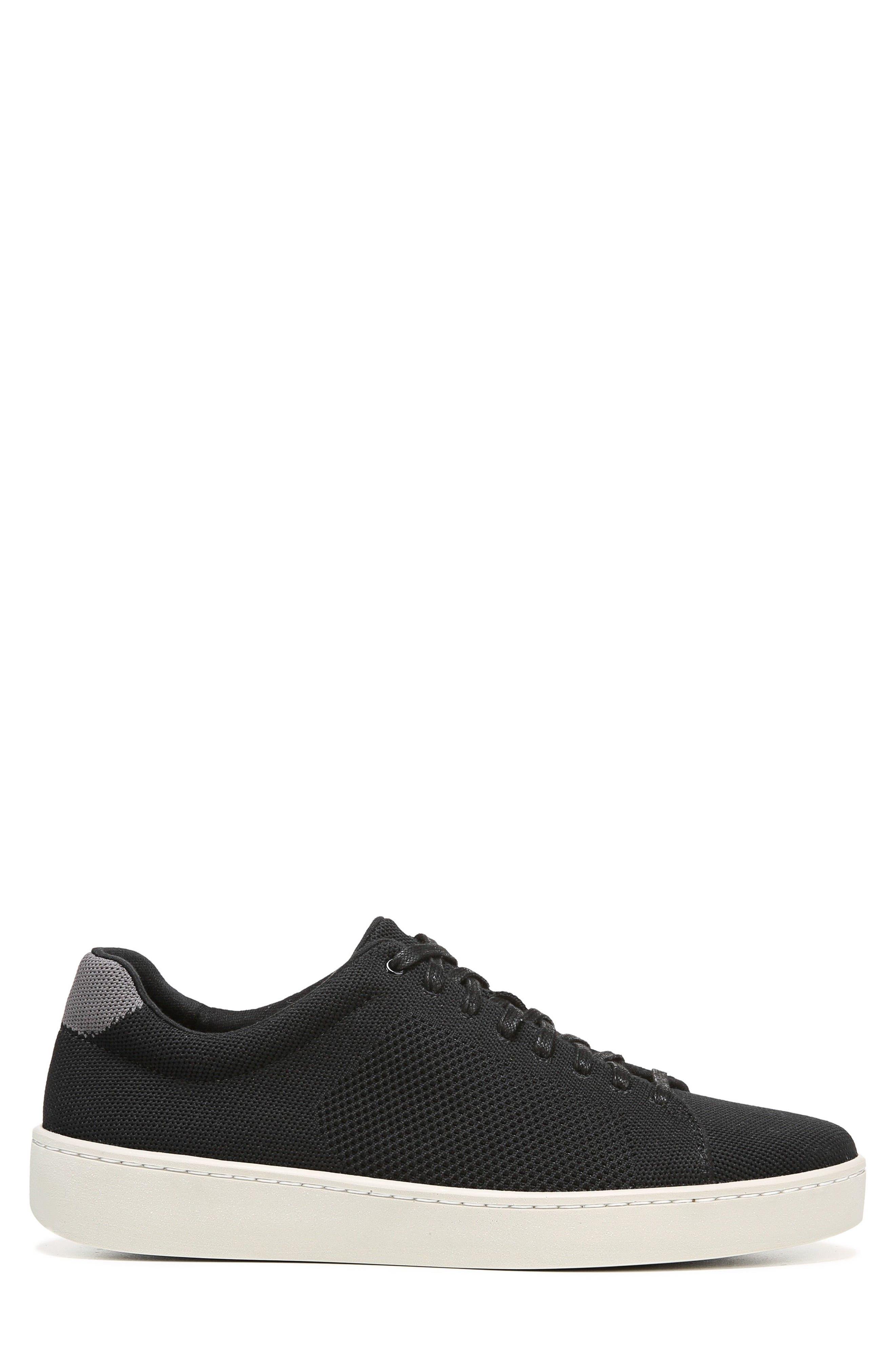 Silos Knit Low Top Sneaker,                             Alternate thumbnail 3, color,                             Black/ Graphite