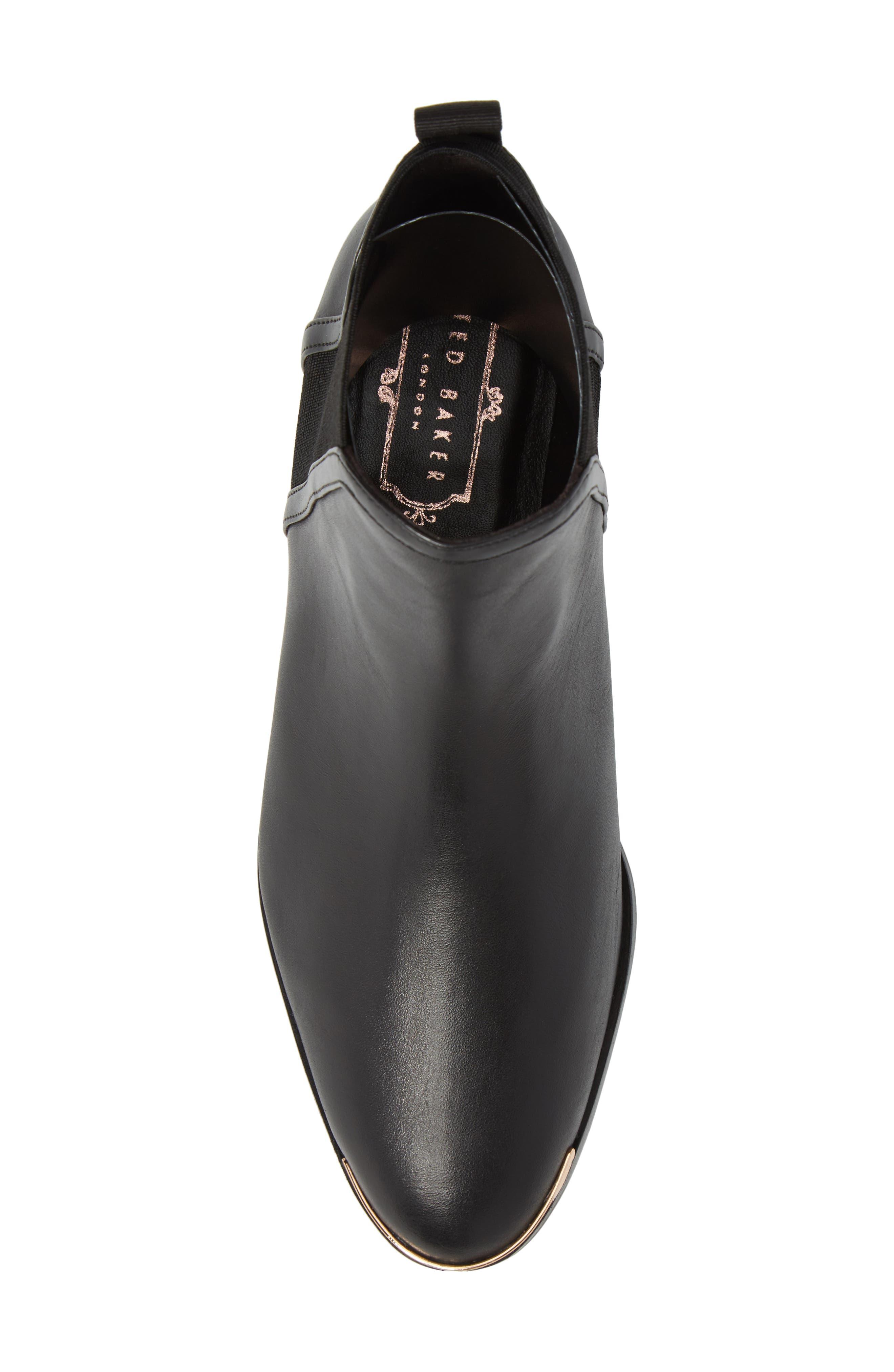 Kerei Chelsea Boot,                             Alternate thumbnail 5, color,                             Black Leather