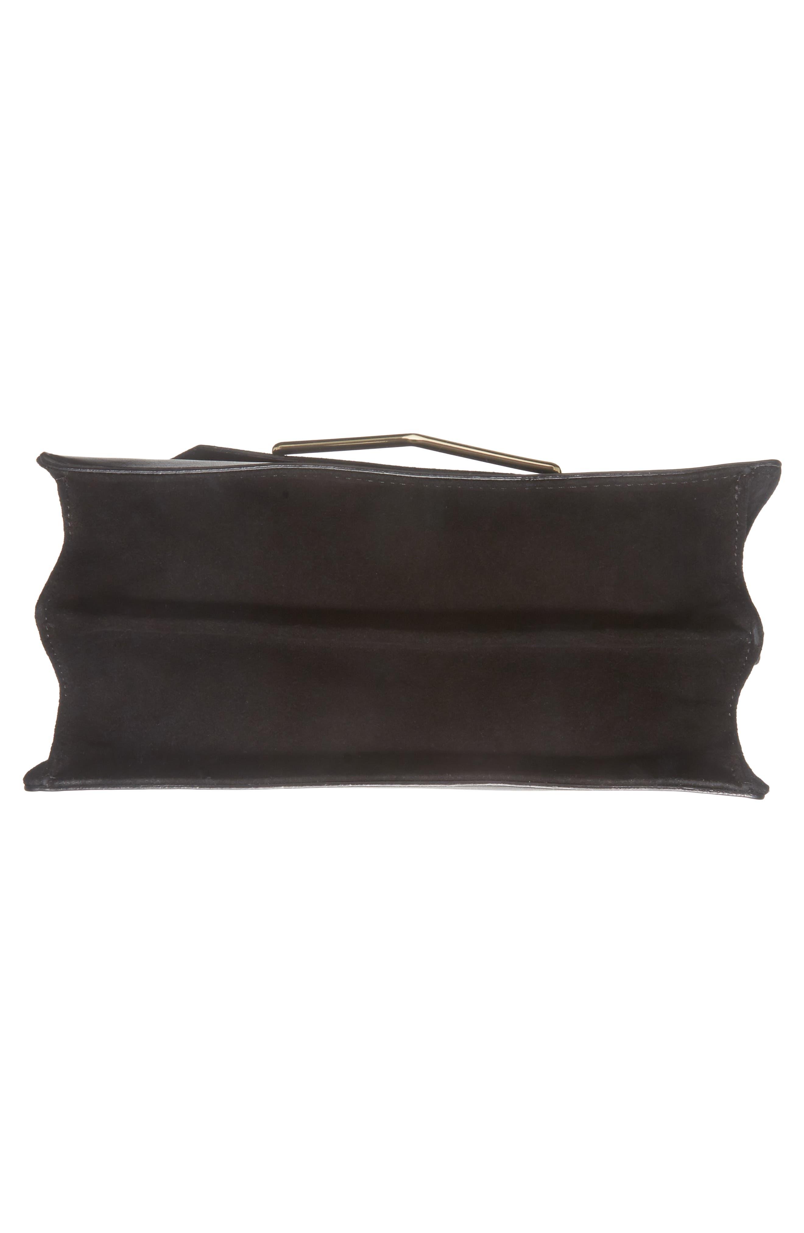 Premium Leather & Suede Soko Shoulder Bag,                             Alternate thumbnail 6, color,                             Black