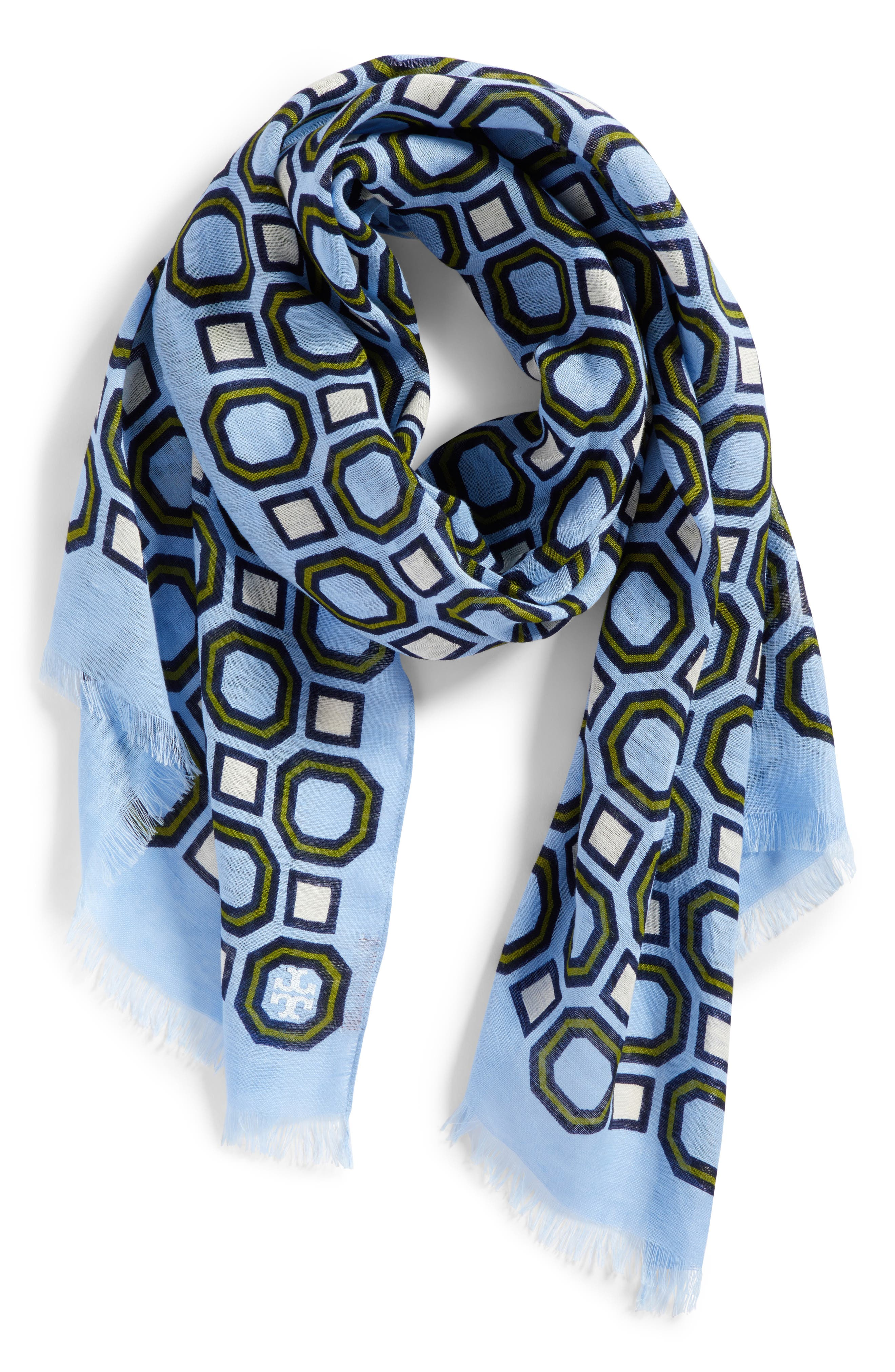 Geo Scarf,                             Alternate thumbnail 2, color,                             Light Chambray
