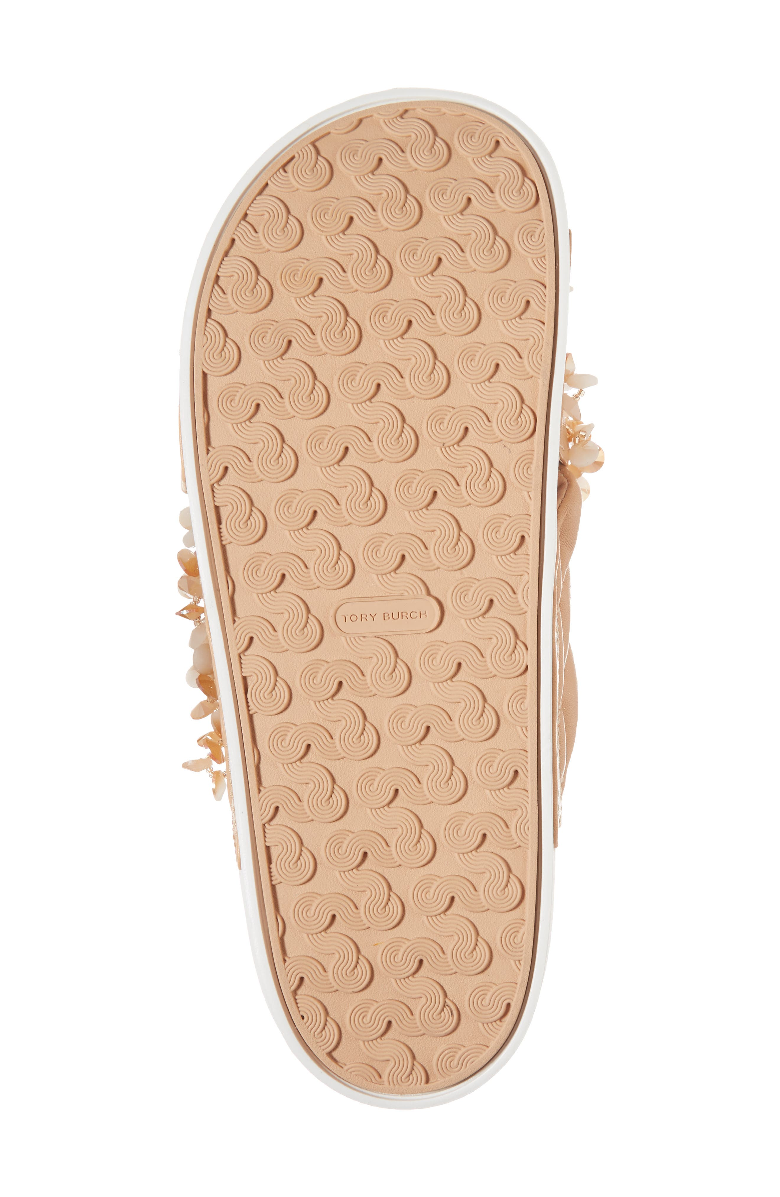 Logan Embellished Slide Sandal,                             Alternate thumbnail 6, color,                             Natural Vachetta/ Cassia