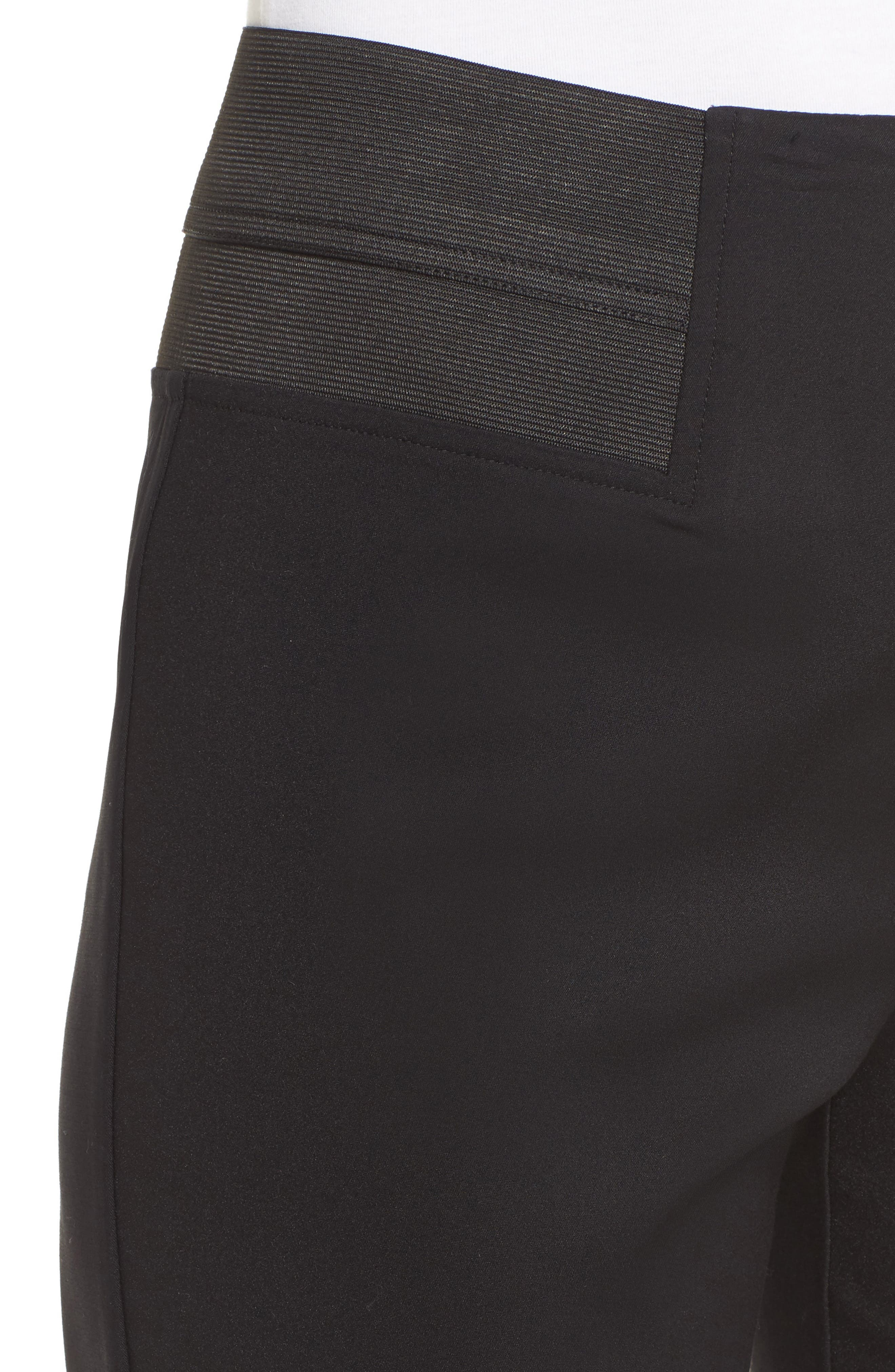 Ming Want Pull-On Ankle Pants,                             Alternate thumbnail 4, color,                             Black