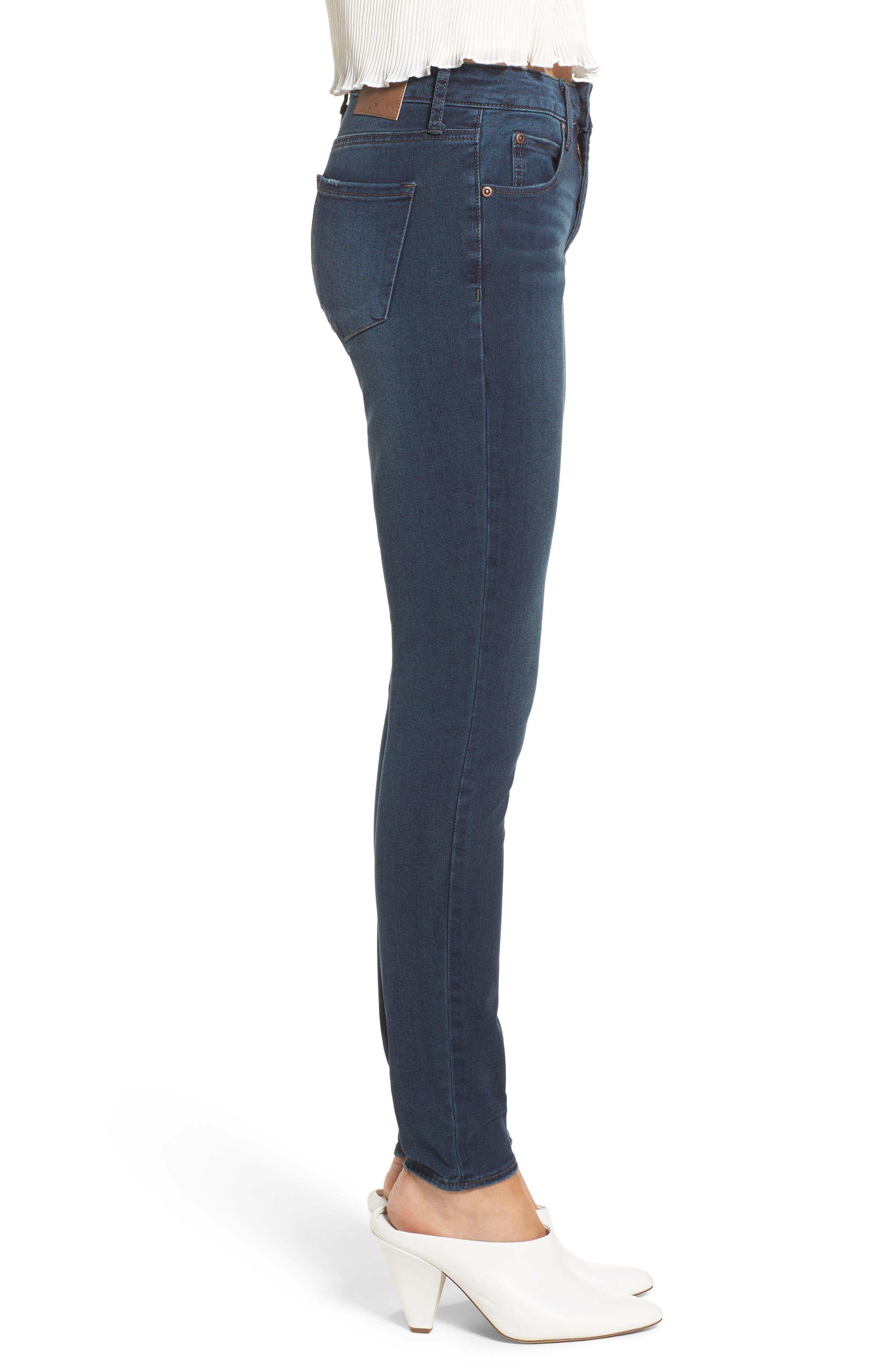 Alternate Image 3  - Leith Skinny Jeans (Medium Wash)