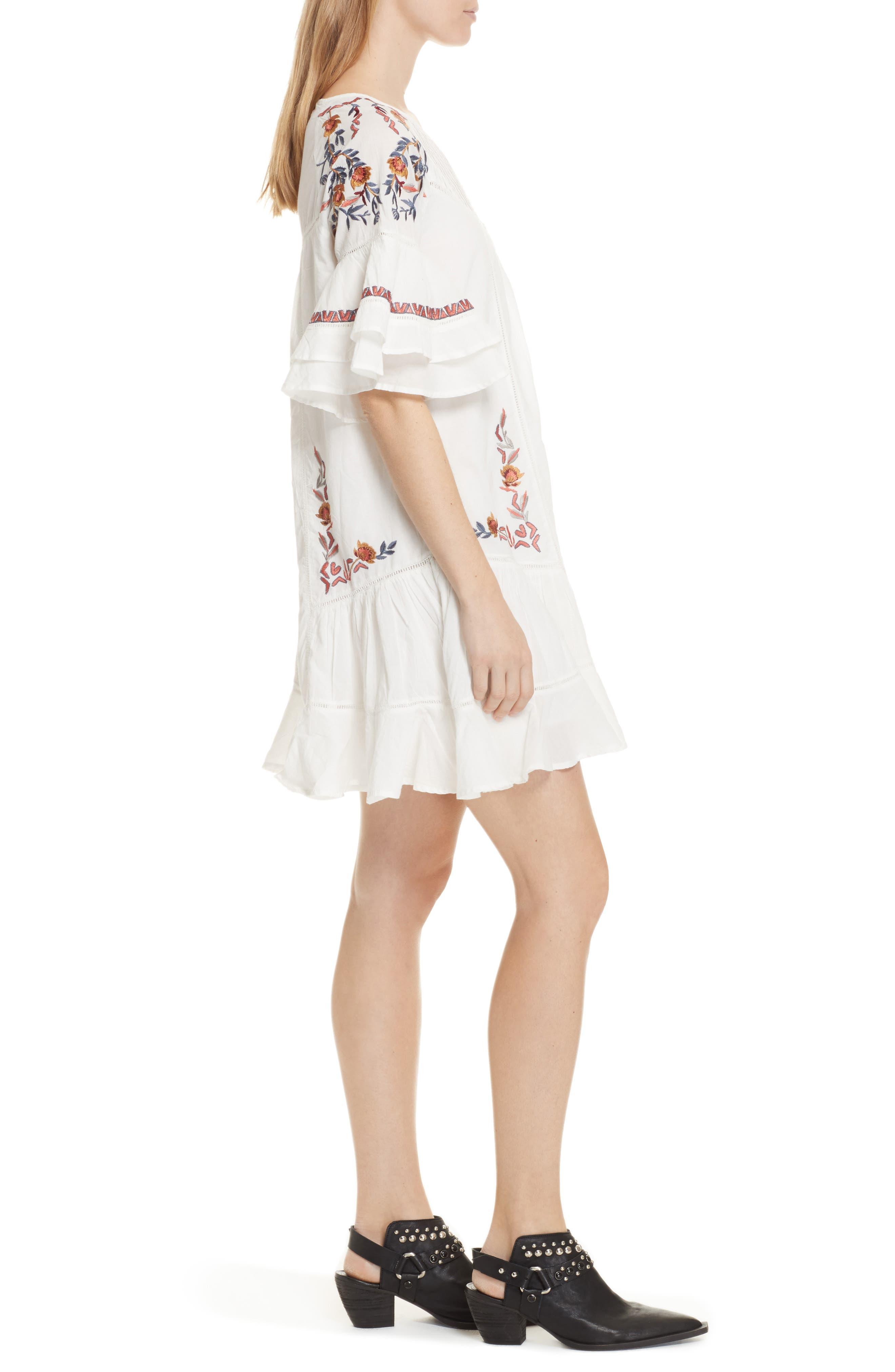 Pavlo Babydoll Dress,                             Alternate thumbnail 3, color,                             Ivory