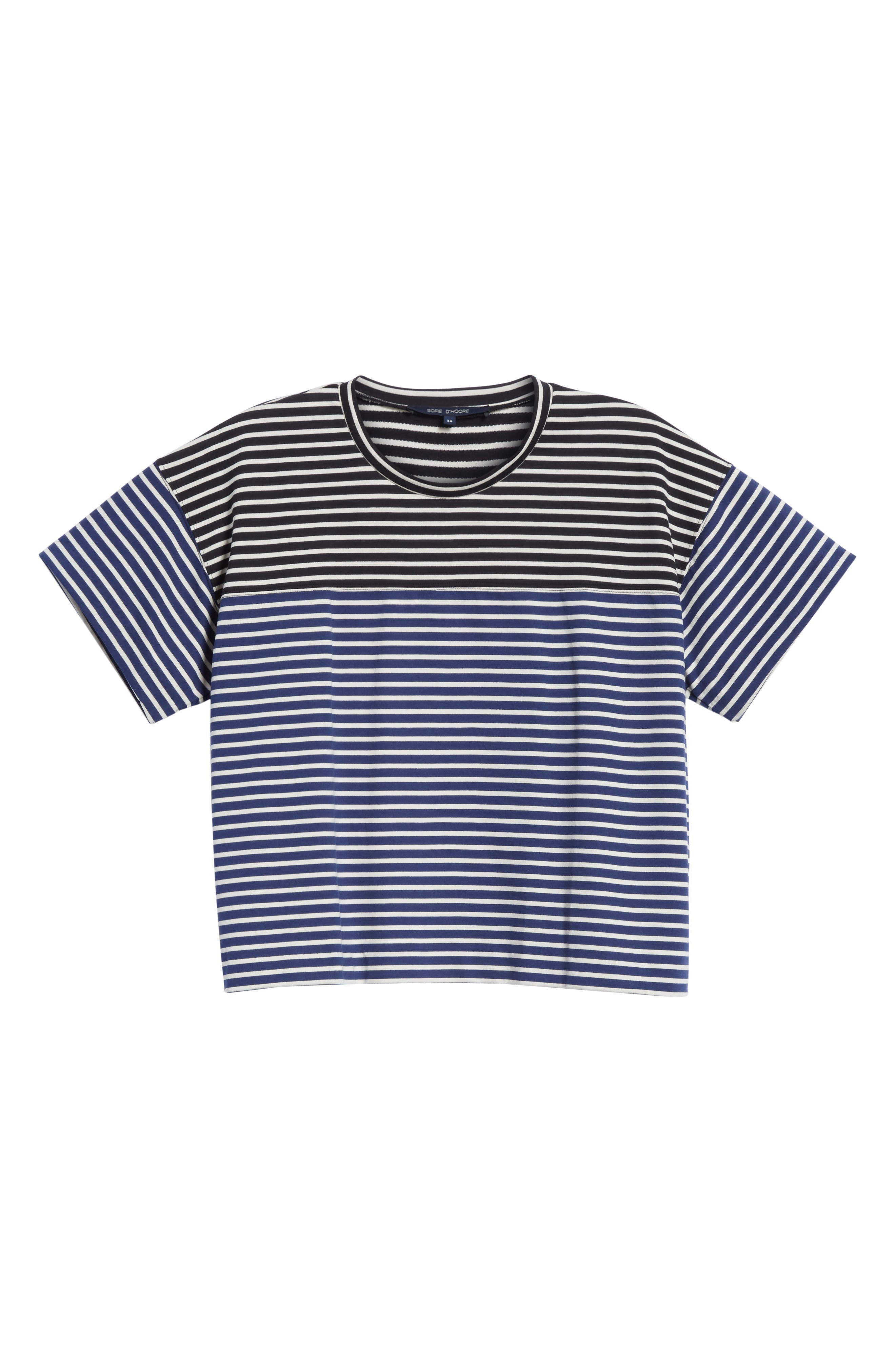 Nautical Stripe Tee,                             Alternate thumbnail 6, color,                             1 Navy/ Blumarine