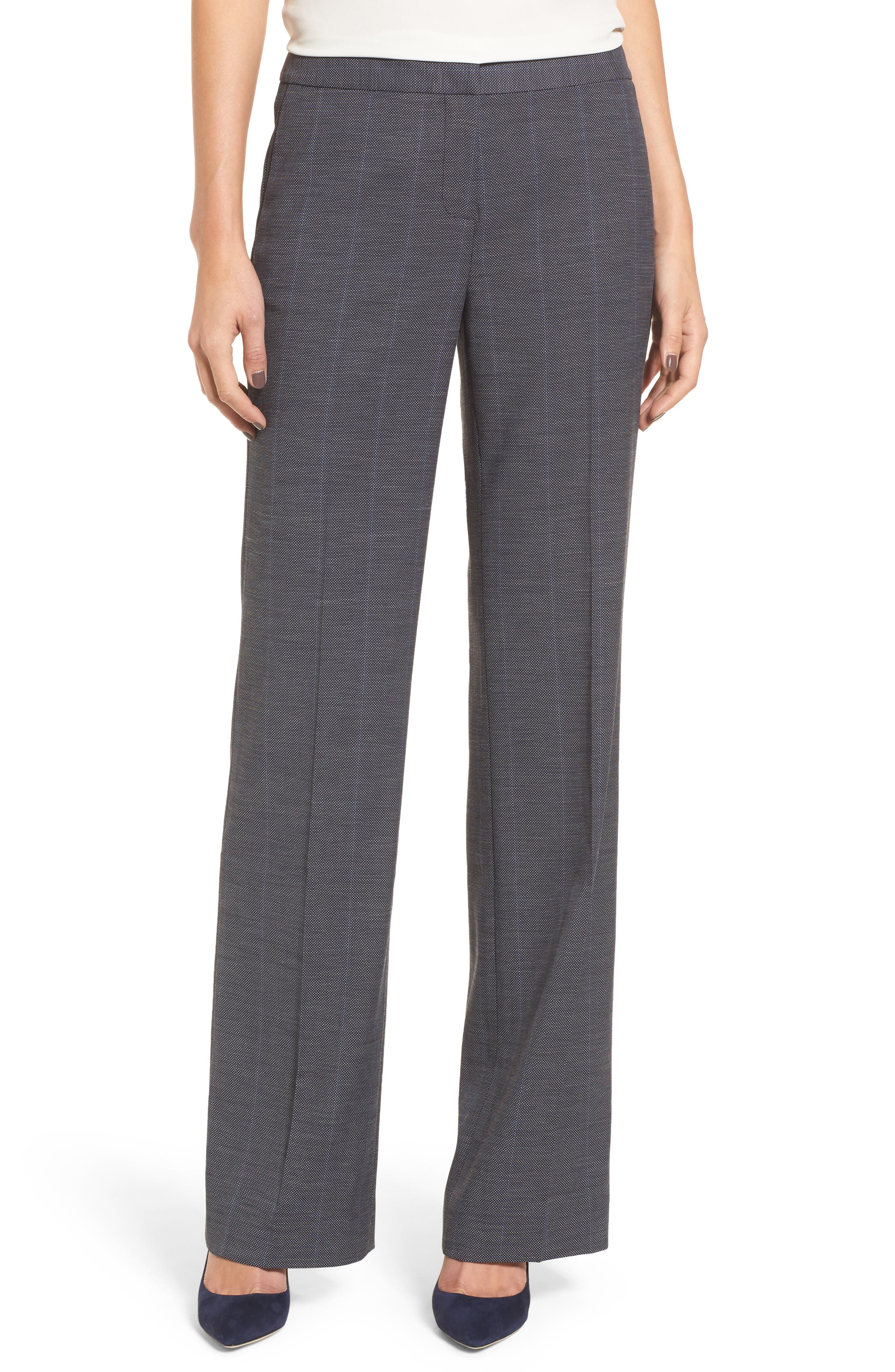 Cross Dye Suit Pants,                         Main,                         color, Navy Crossdye Pattern