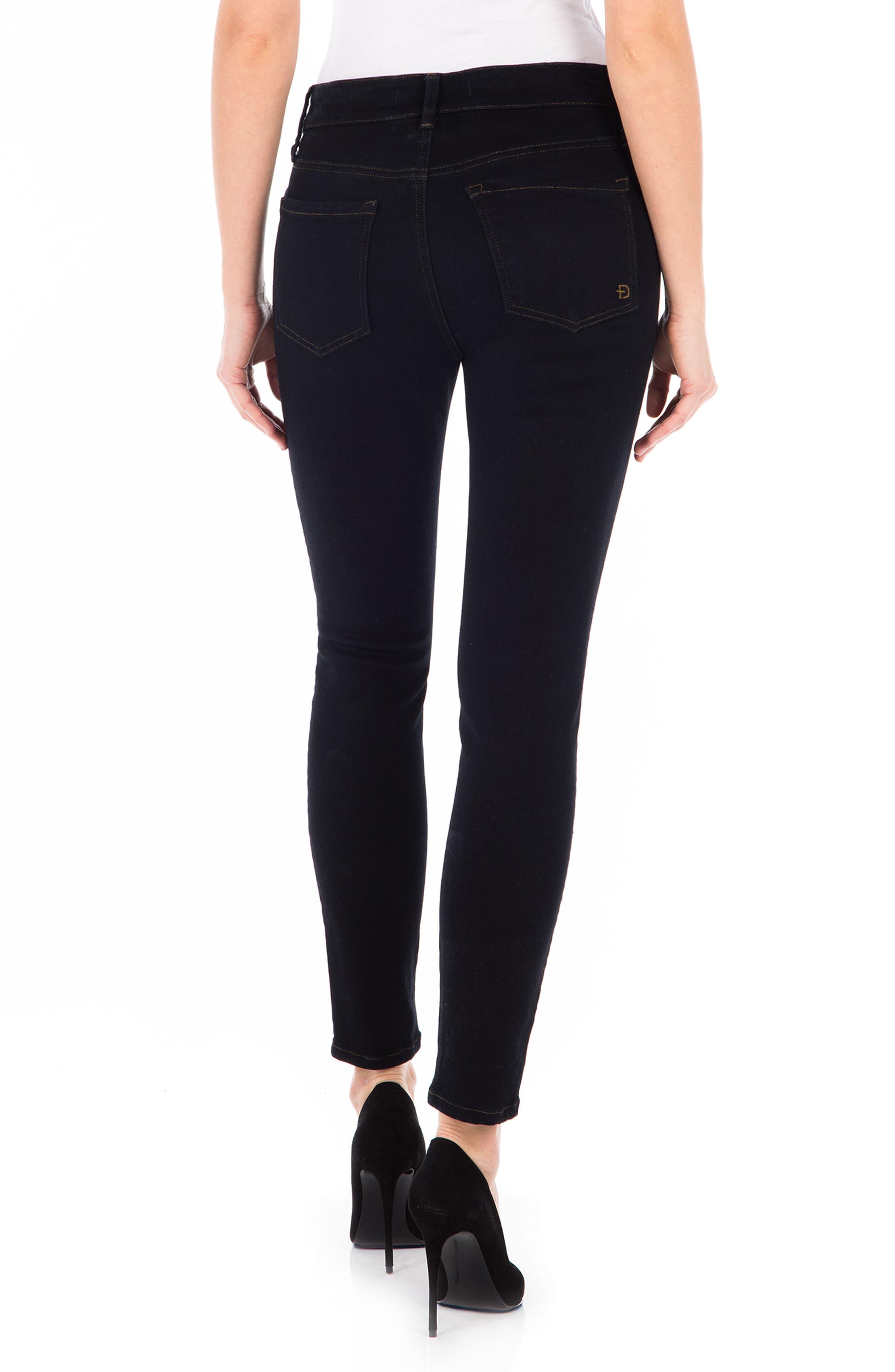 Sola Skinny Jeans,                             Alternate thumbnail 2, color,                             Navy Noir