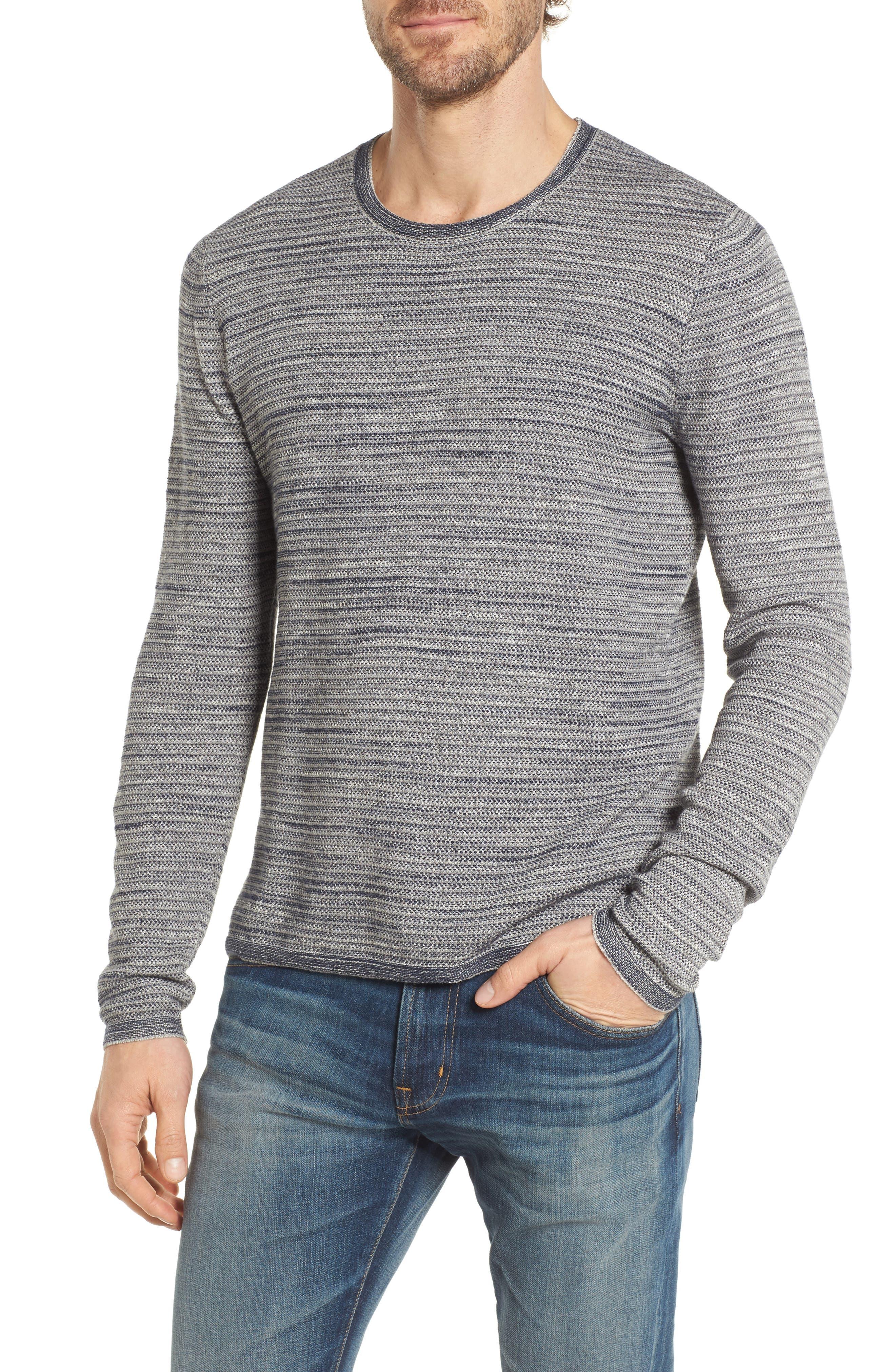 Grayers Bird's Eye Cotton Jacquard Sweater