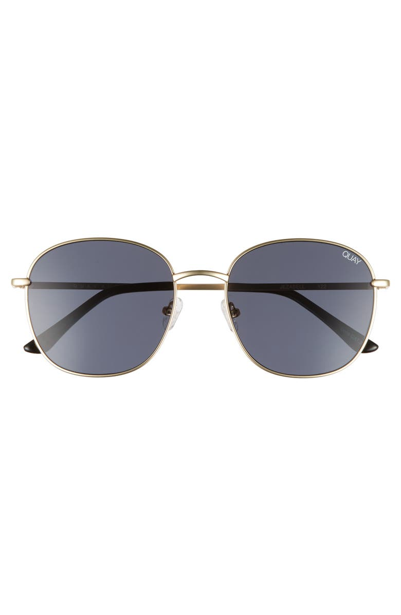 a377d2c101310 QUAY JEZABELL 57MM ROUND SUNGLASSES - GOLD  SMOKE
