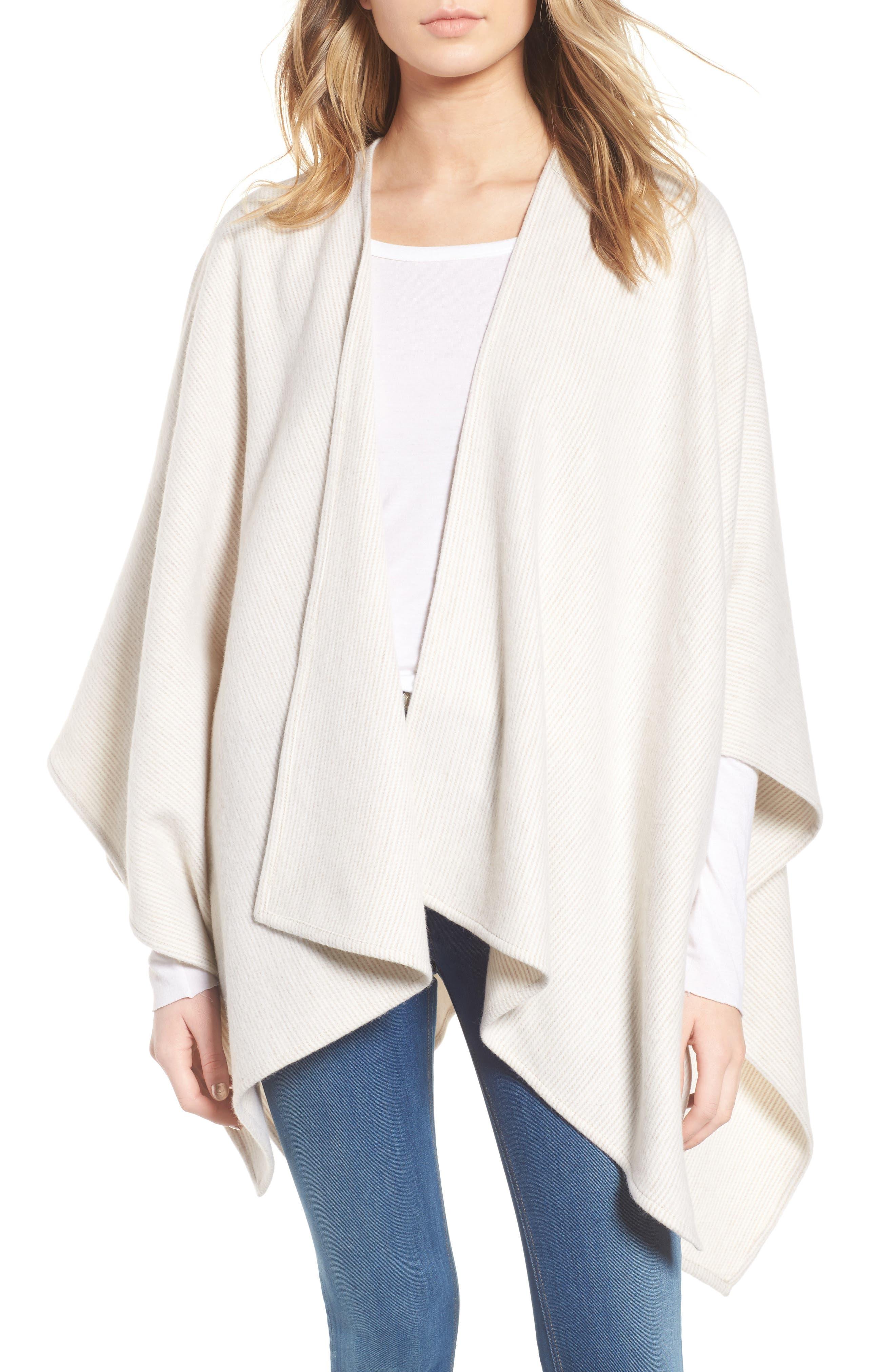 Skinny Stripe Wool Wrap,                         Main,                         color, Camel Multi