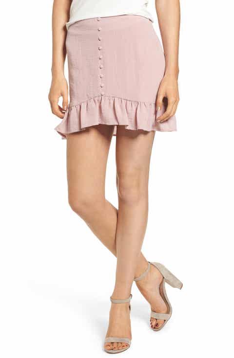 Lost + Wander Peony Ruffle Hem Skirt