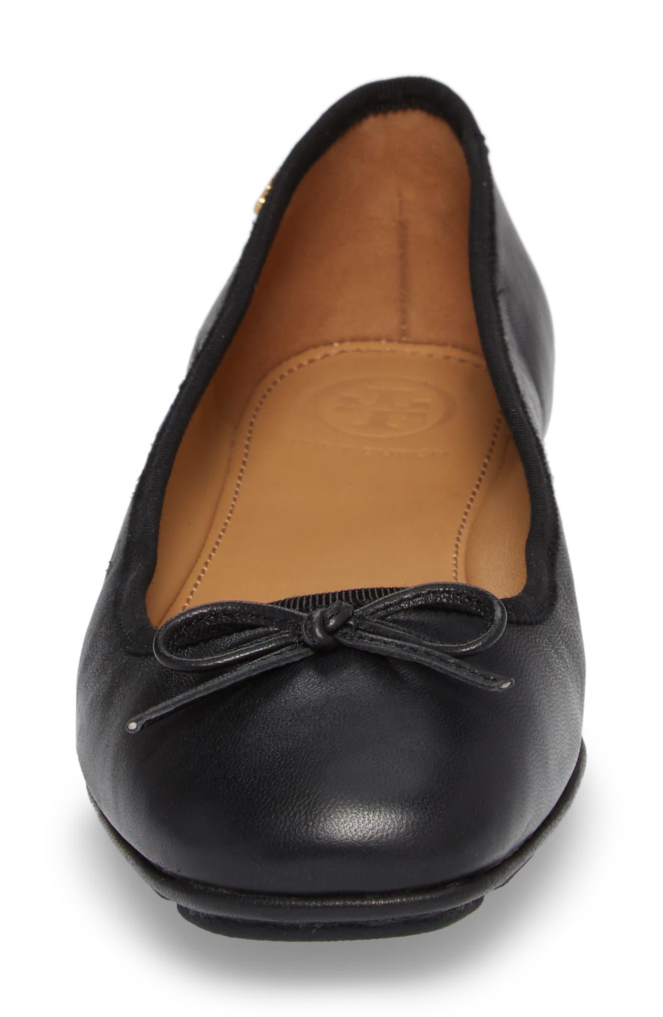Laila Driver Ballet Flat,                             Alternate thumbnail 4, color,                             Perfect Black/ Perfect Black
