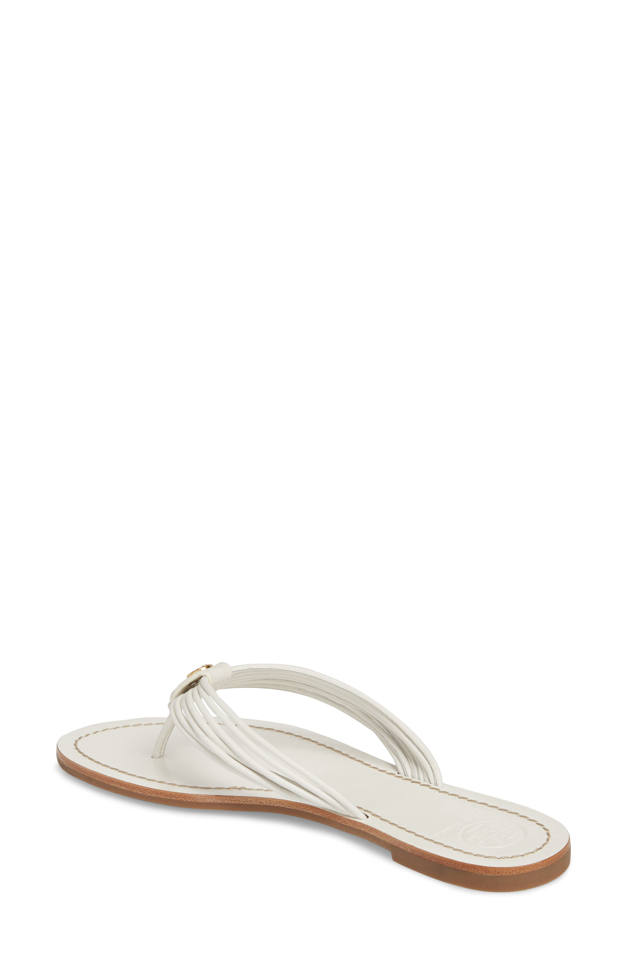 Sienna Strappy Thong Sandal,                             Alternate thumbnail 2, color,                             Perfect White/ Perfect White