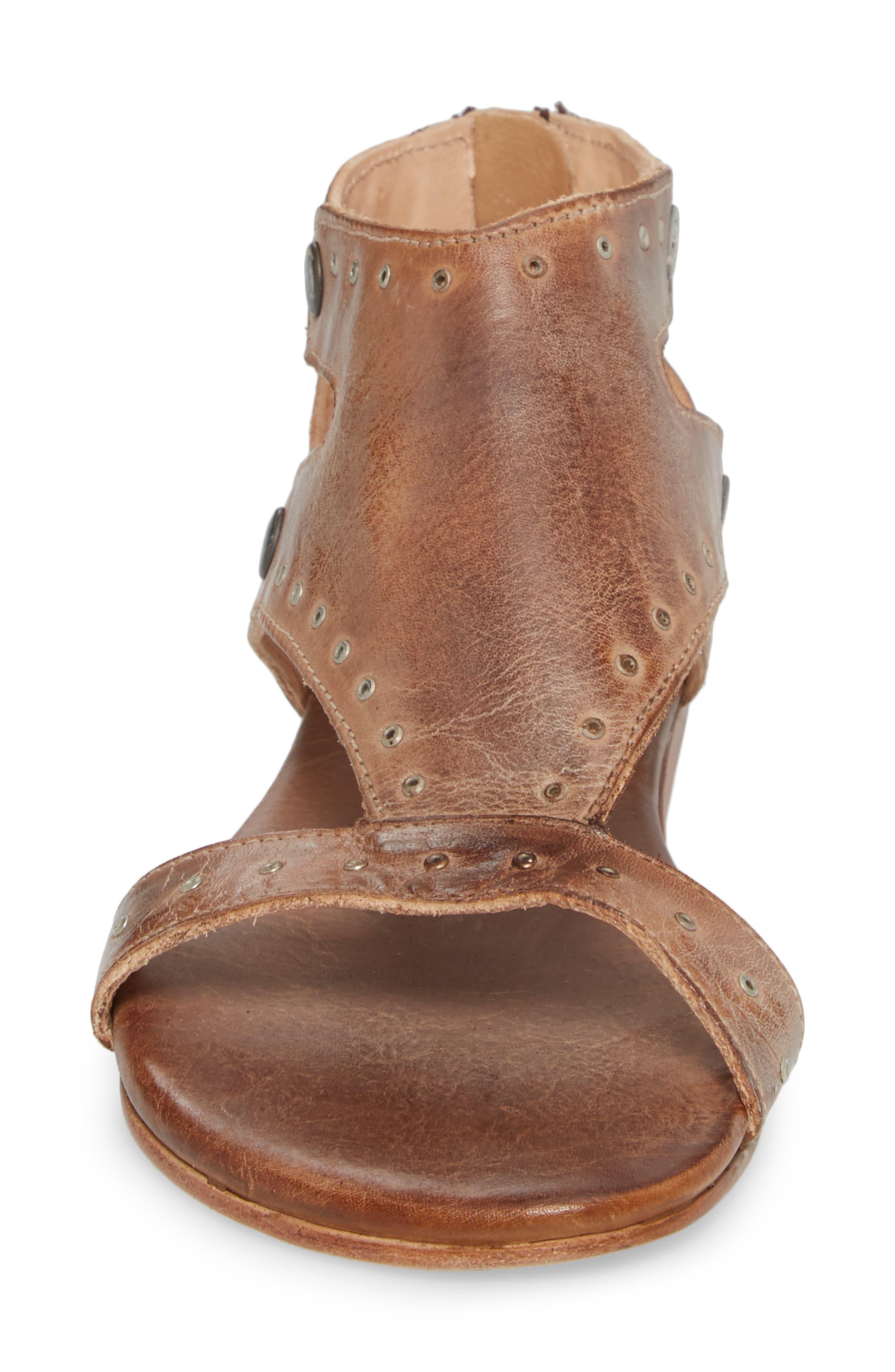 Soto G V-Strap Sandal,                             Alternate thumbnail 4, color,                             Tan Mason Leather