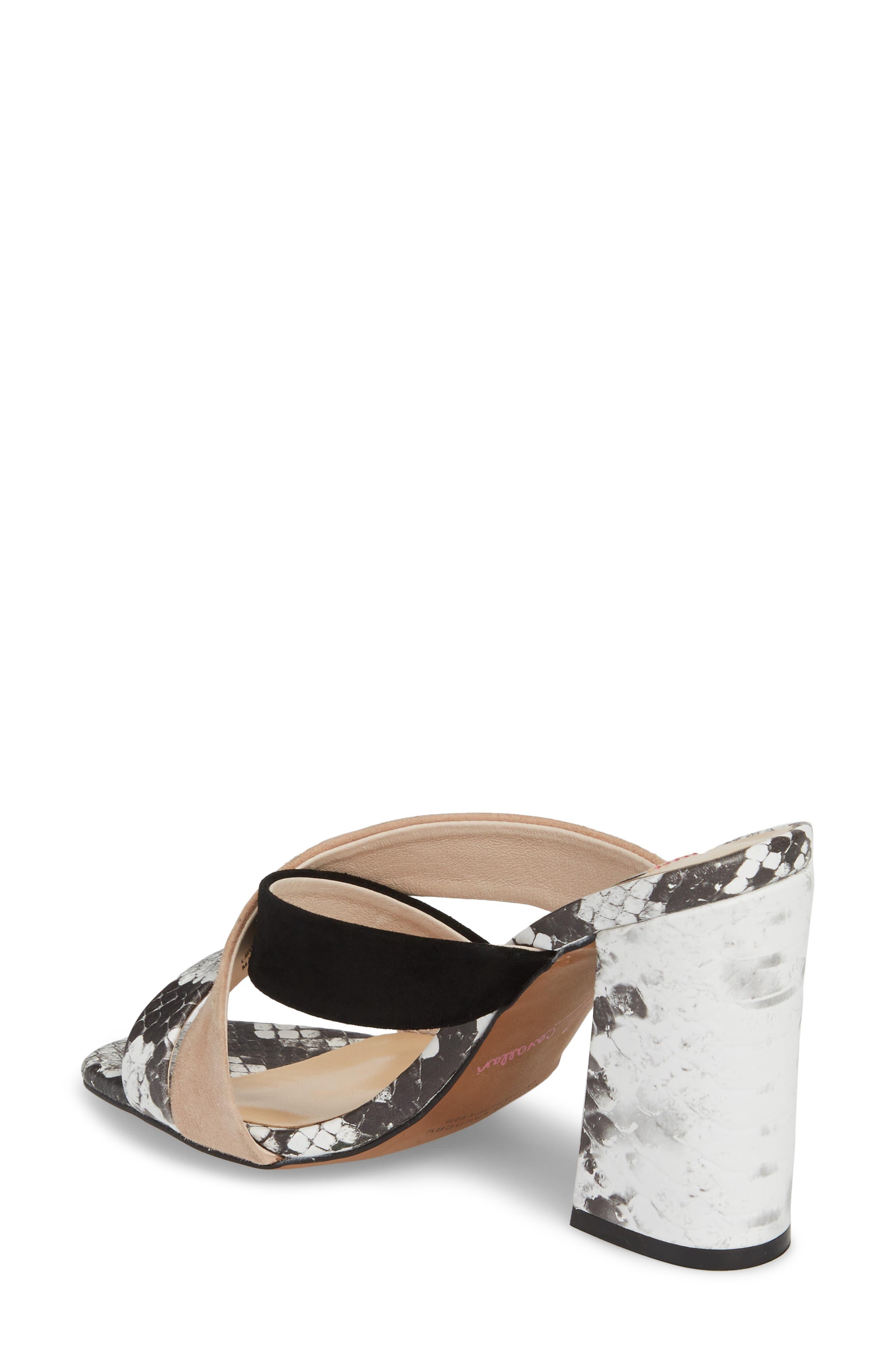 Lola Slide Sandal,                             Alternate thumbnail 2, color,                             Grey/ White Print Leather