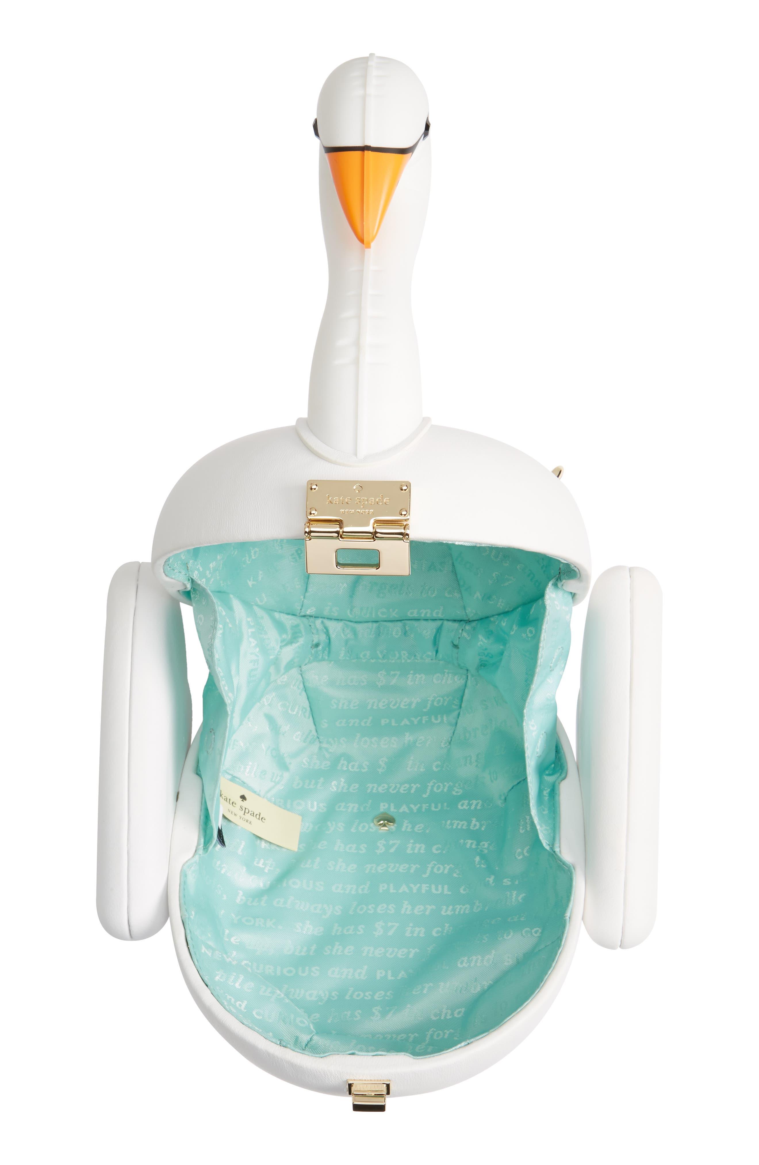 Alternate Image 4  - kate spade new york checking in - swan pool float lambskin leather bag