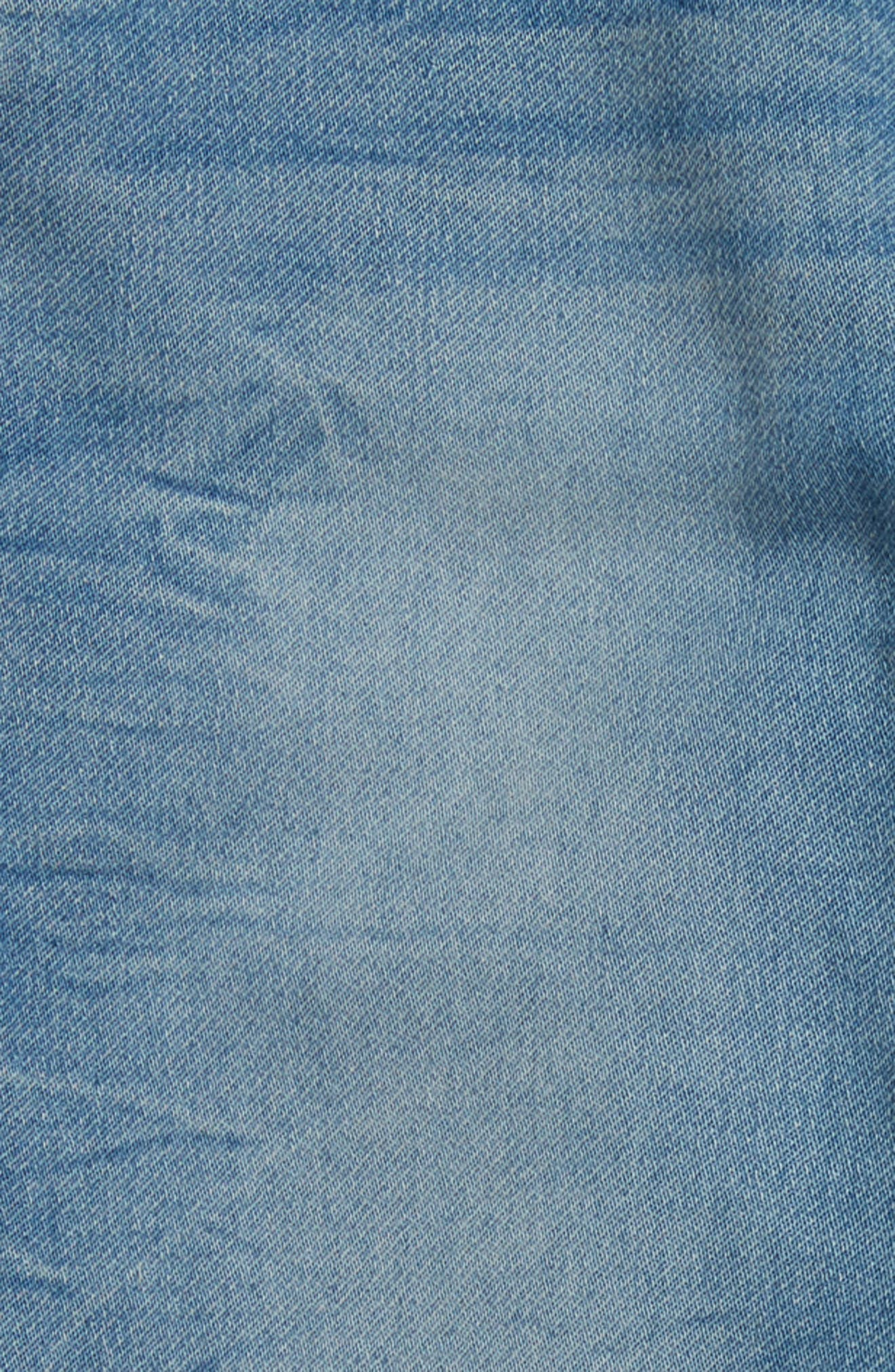 Denim Sweatpants,                             Alternate thumbnail 4, color,                             Electric Wash