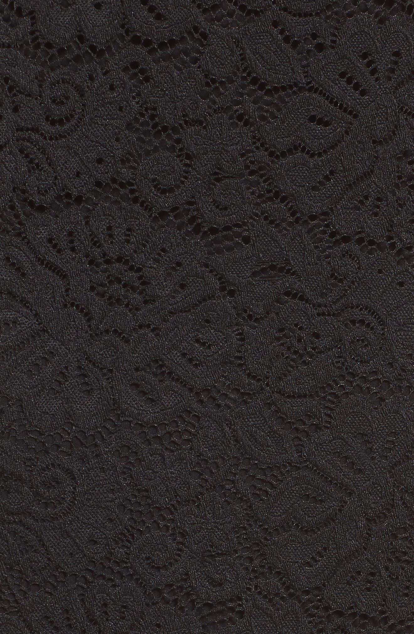 Filippa Scalloped Lace Skirt,                             Alternate thumbnail 5, color,                             Black